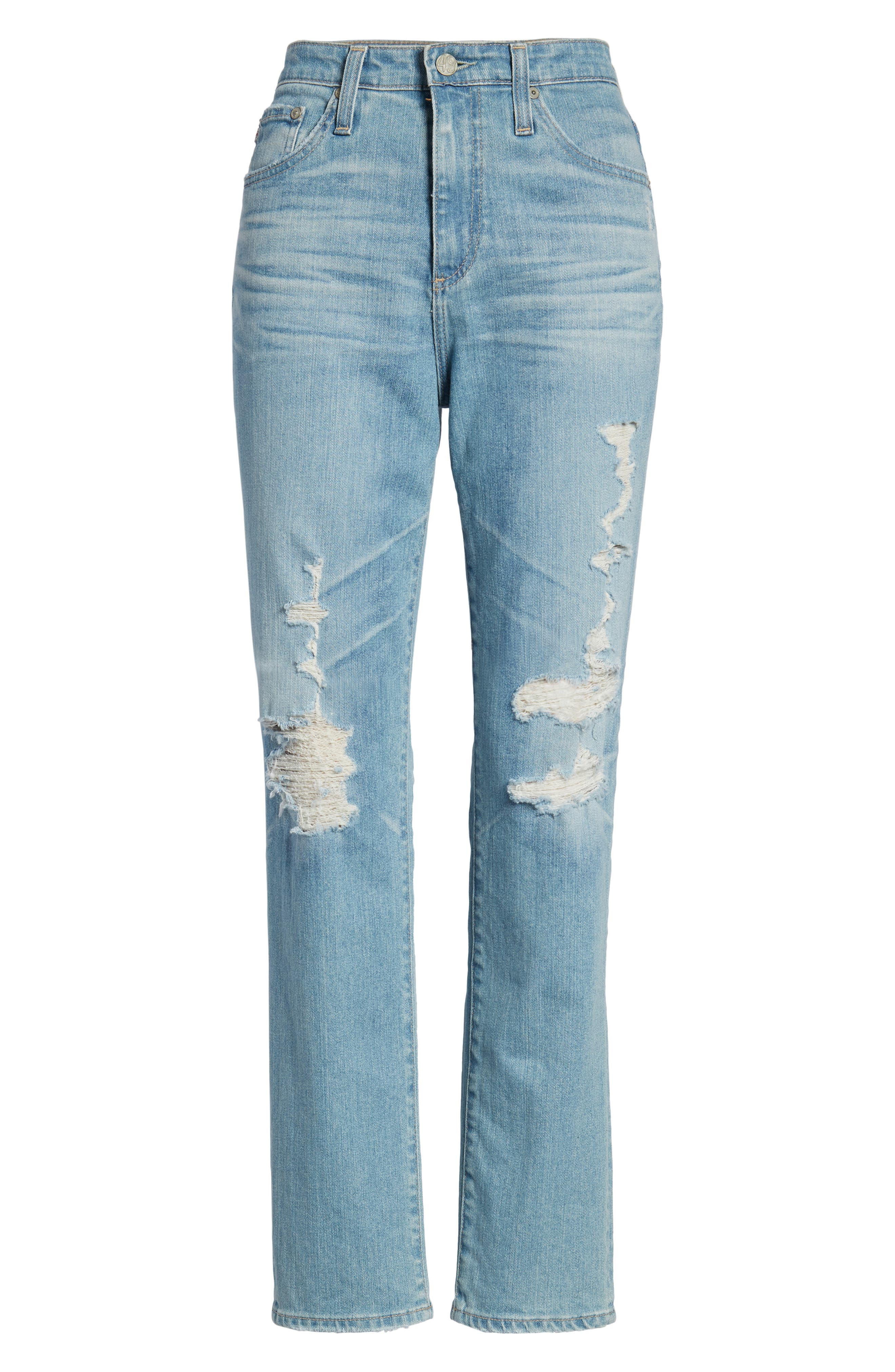 'The Phoebe' Vintage High Rise Straight Leg Jeans,                             Alternate thumbnail 7, color,                             18 Years Headlands