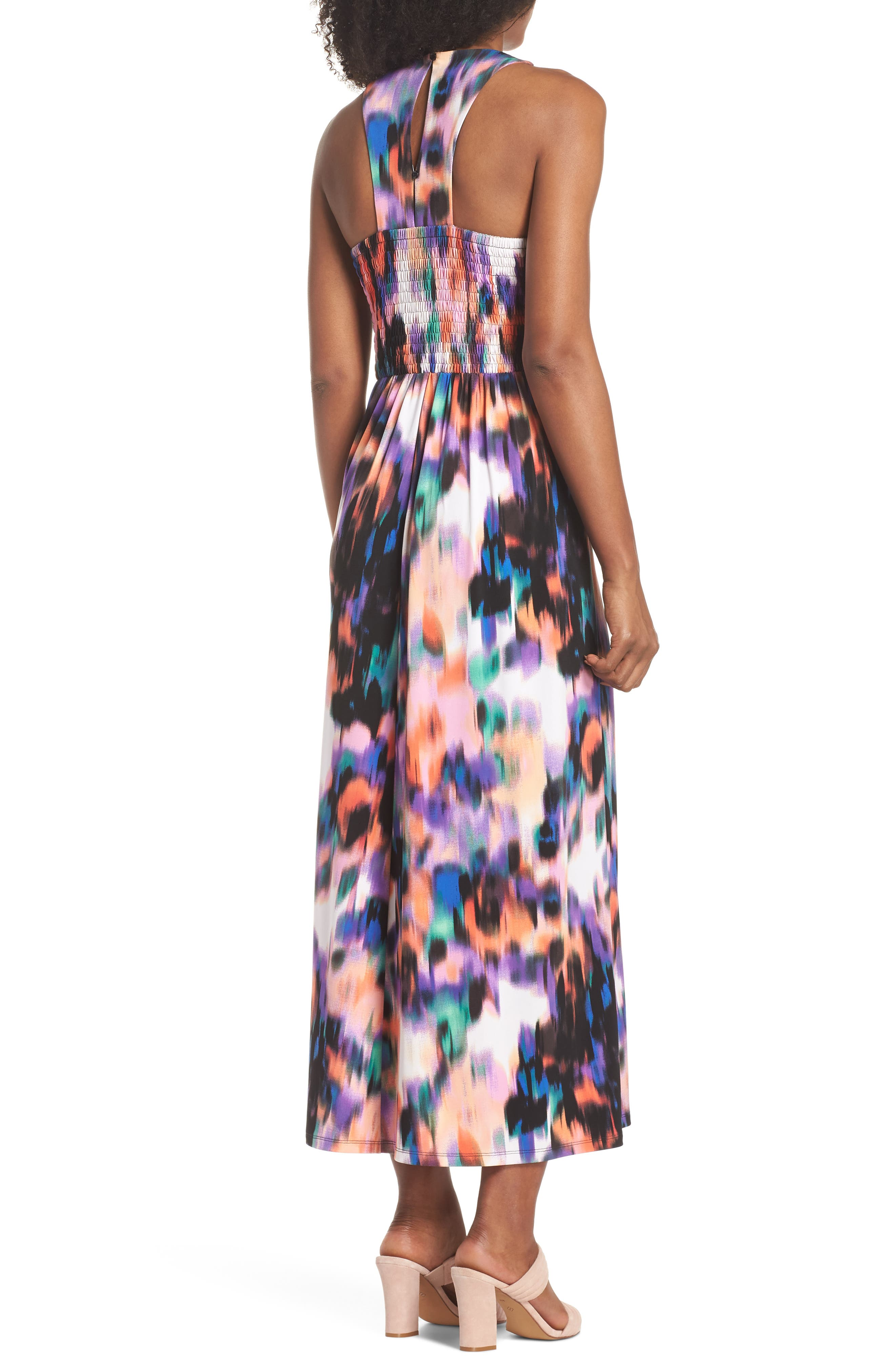 Print Matte Jersey Maxi Dress,                             Alternate thumbnail 2, color,                             Soft White/ Multi