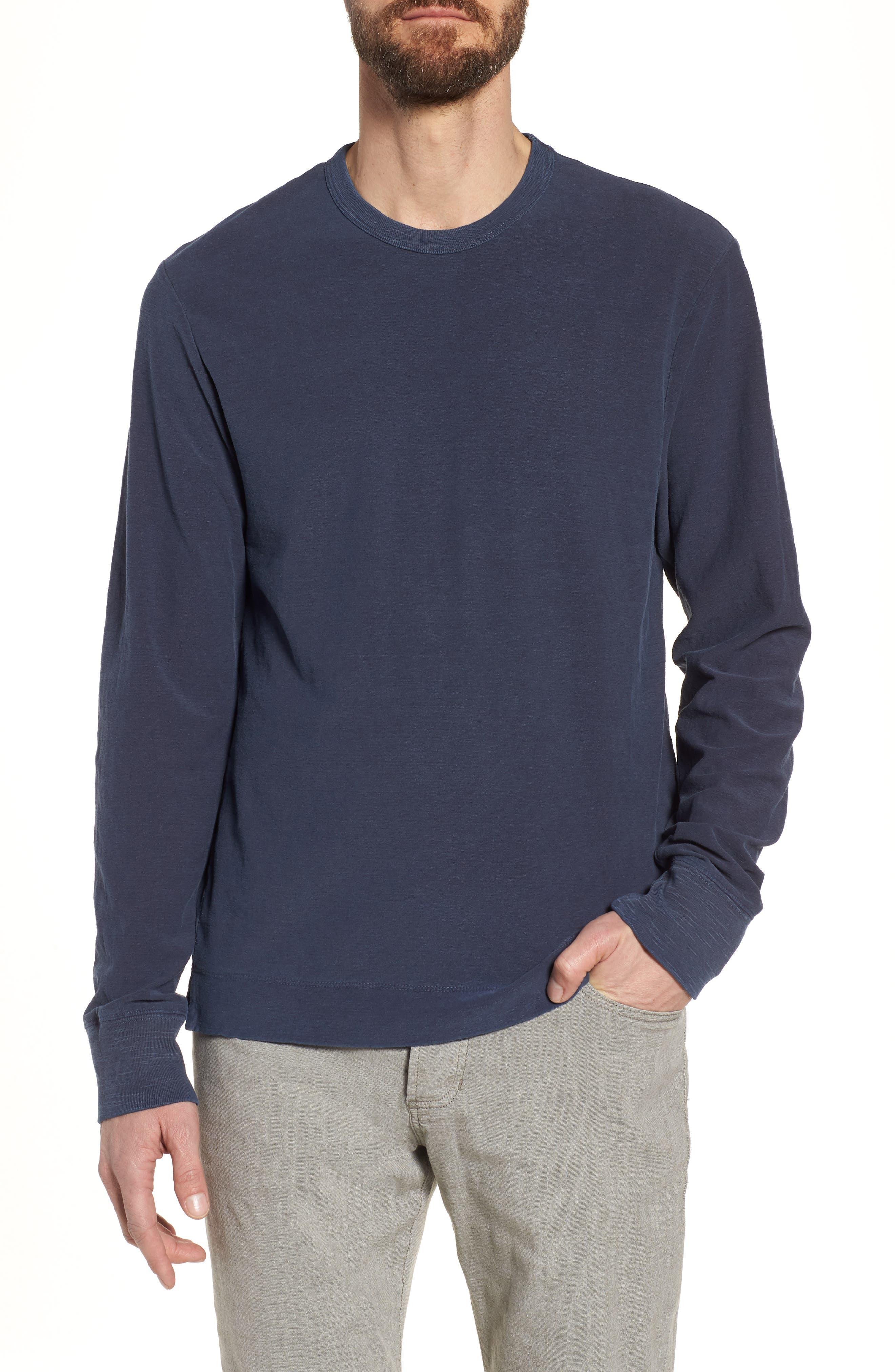 Regular Fit Slub Crewneck T-Shirt,                         Main,                         color, Blue