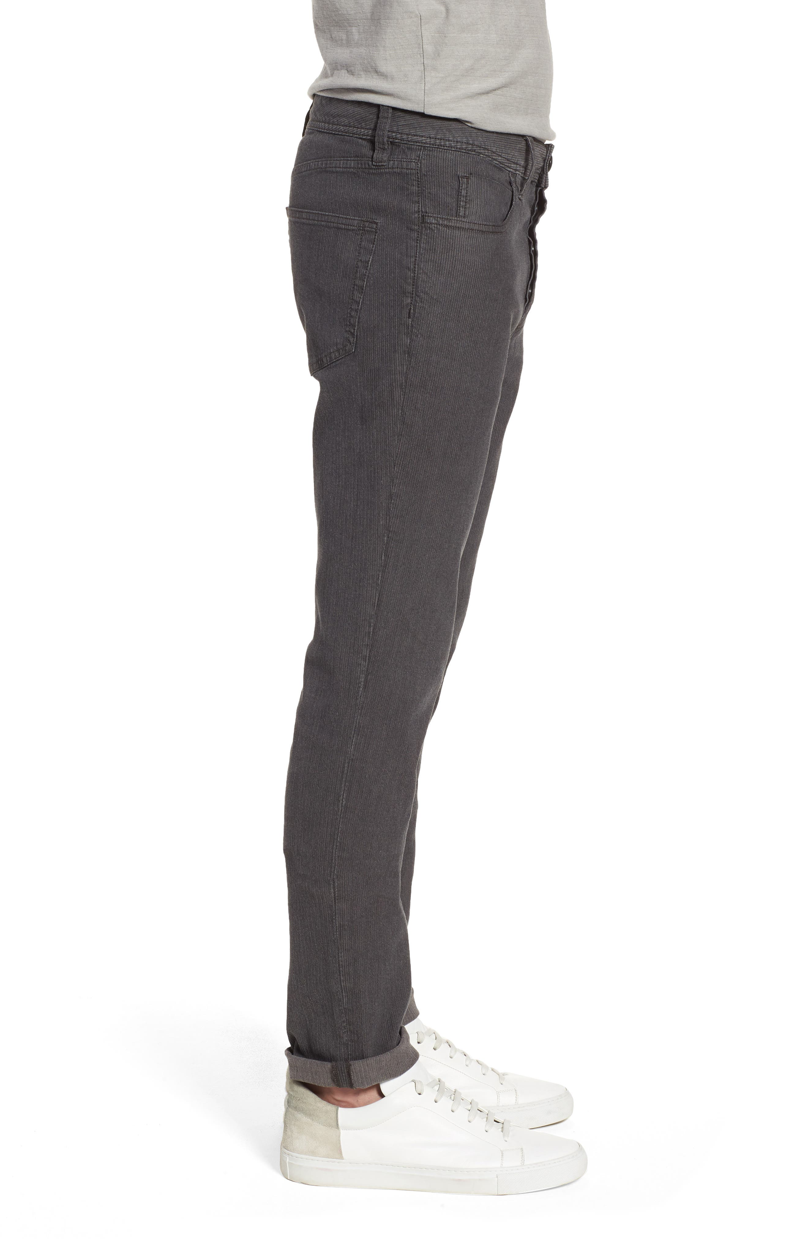 Alternate Image 3  - James Perse Slim Fit Stretch Herringbone Pants