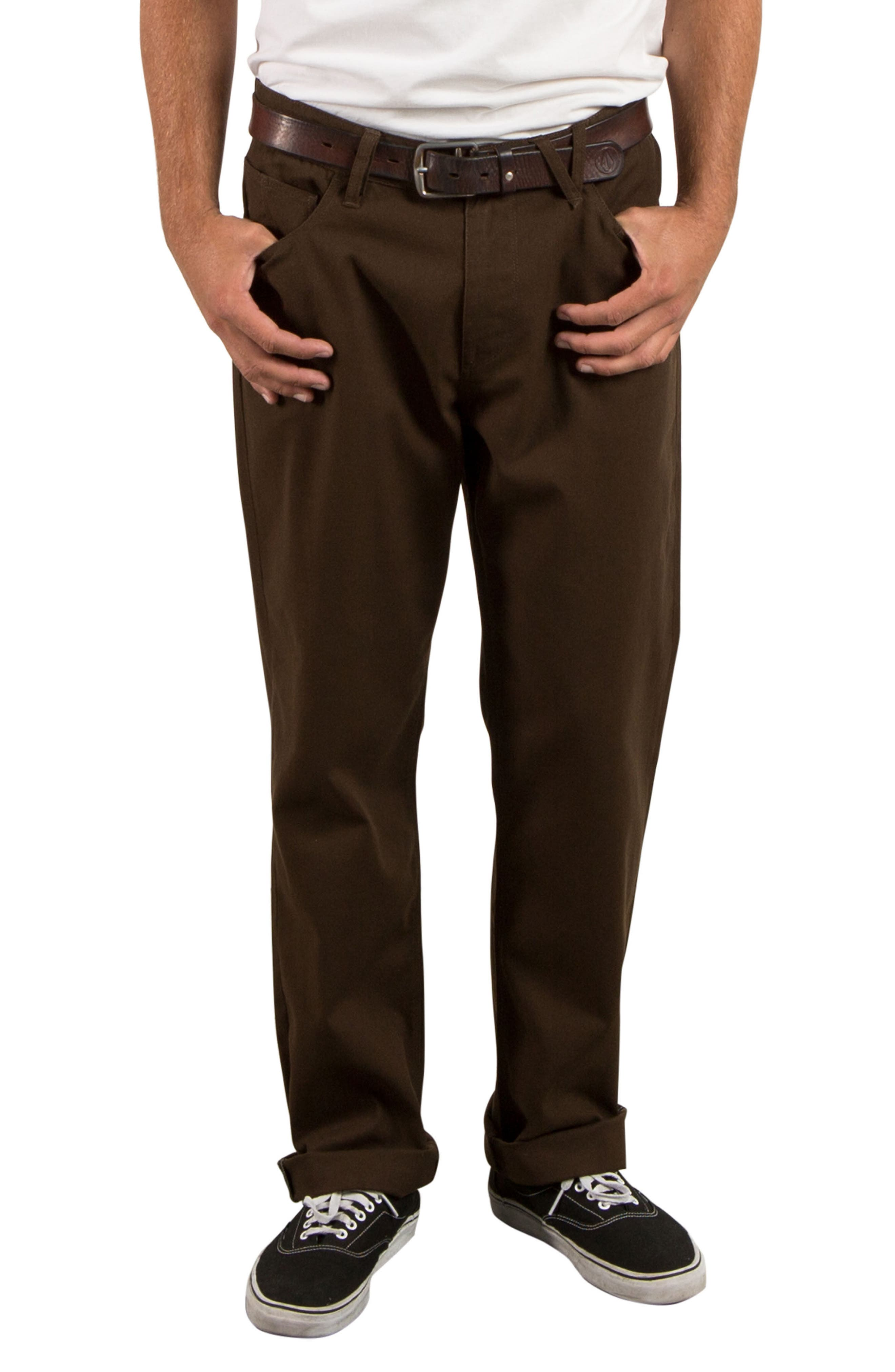 Kinkade Five-Pocket Thrifter Pants,                             Main thumbnail 1, color,                             Dark Chocolate