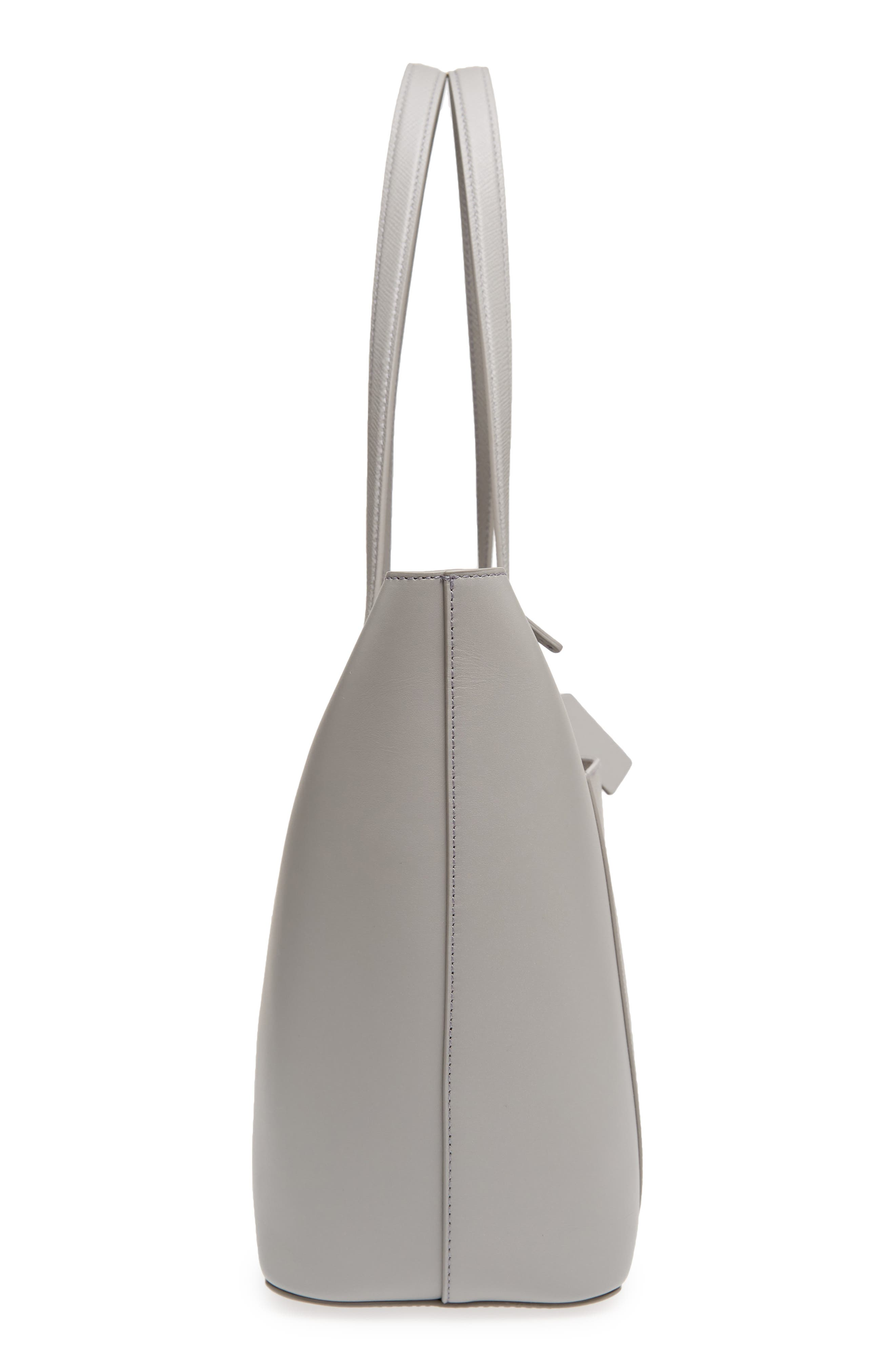 Panama East/West Leather Tote,                             Alternate thumbnail 5, color,                             Cold Grey
