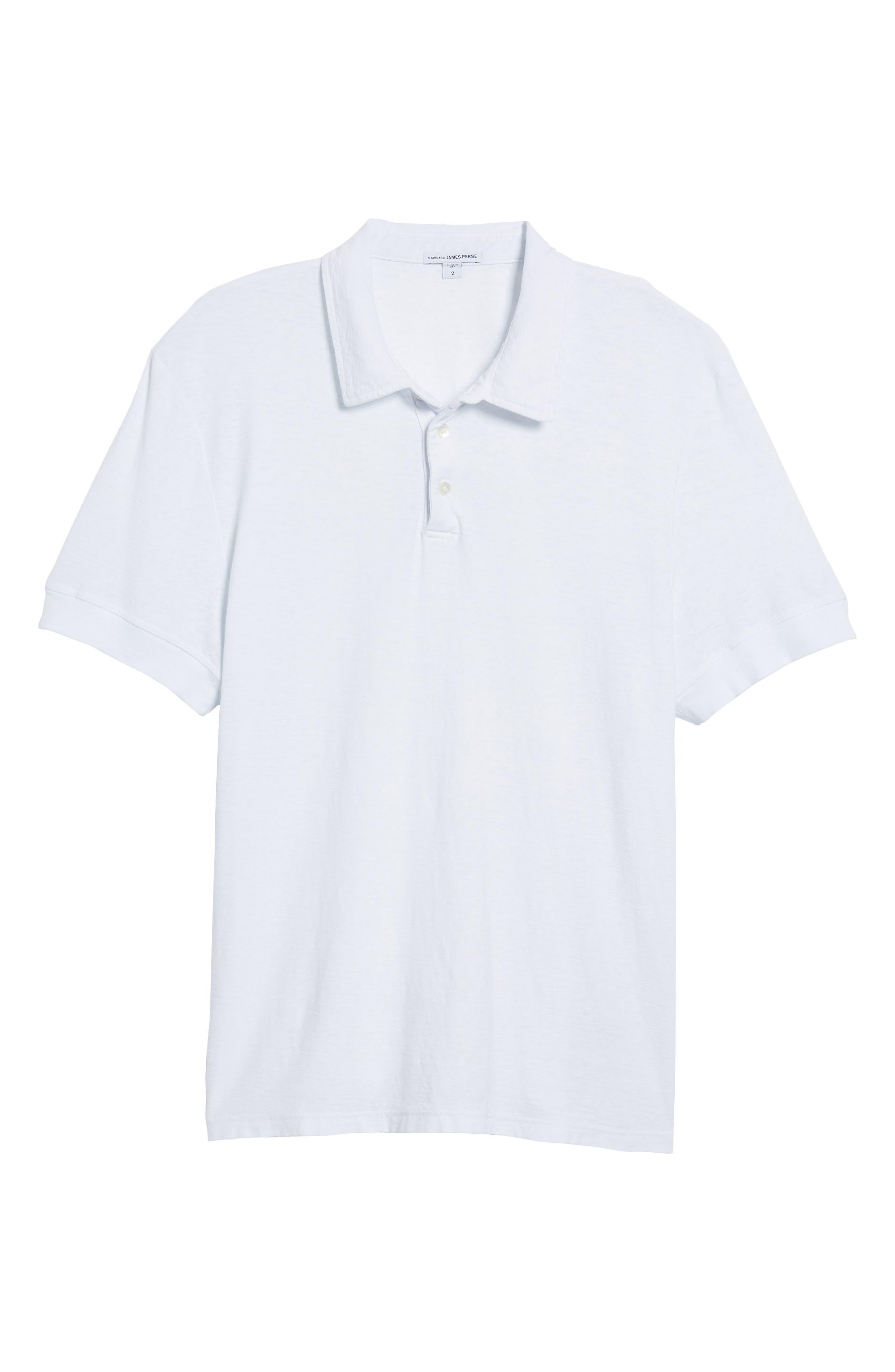 Regular Fit Slub Polo,                             Alternate thumbnail 6, color,                             White