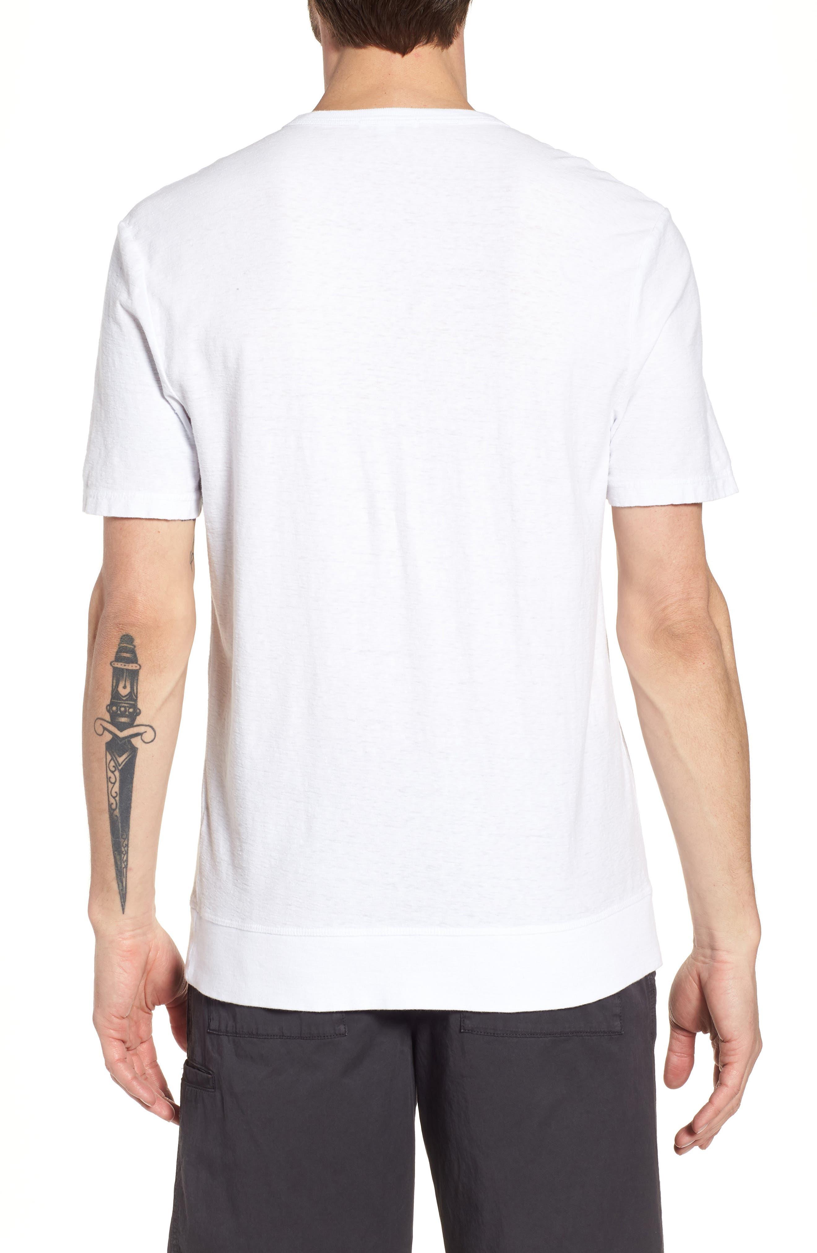 Regular Fit Slub Crewneck T-Shirt,                             Alternate thumbnail 2, color,                             White