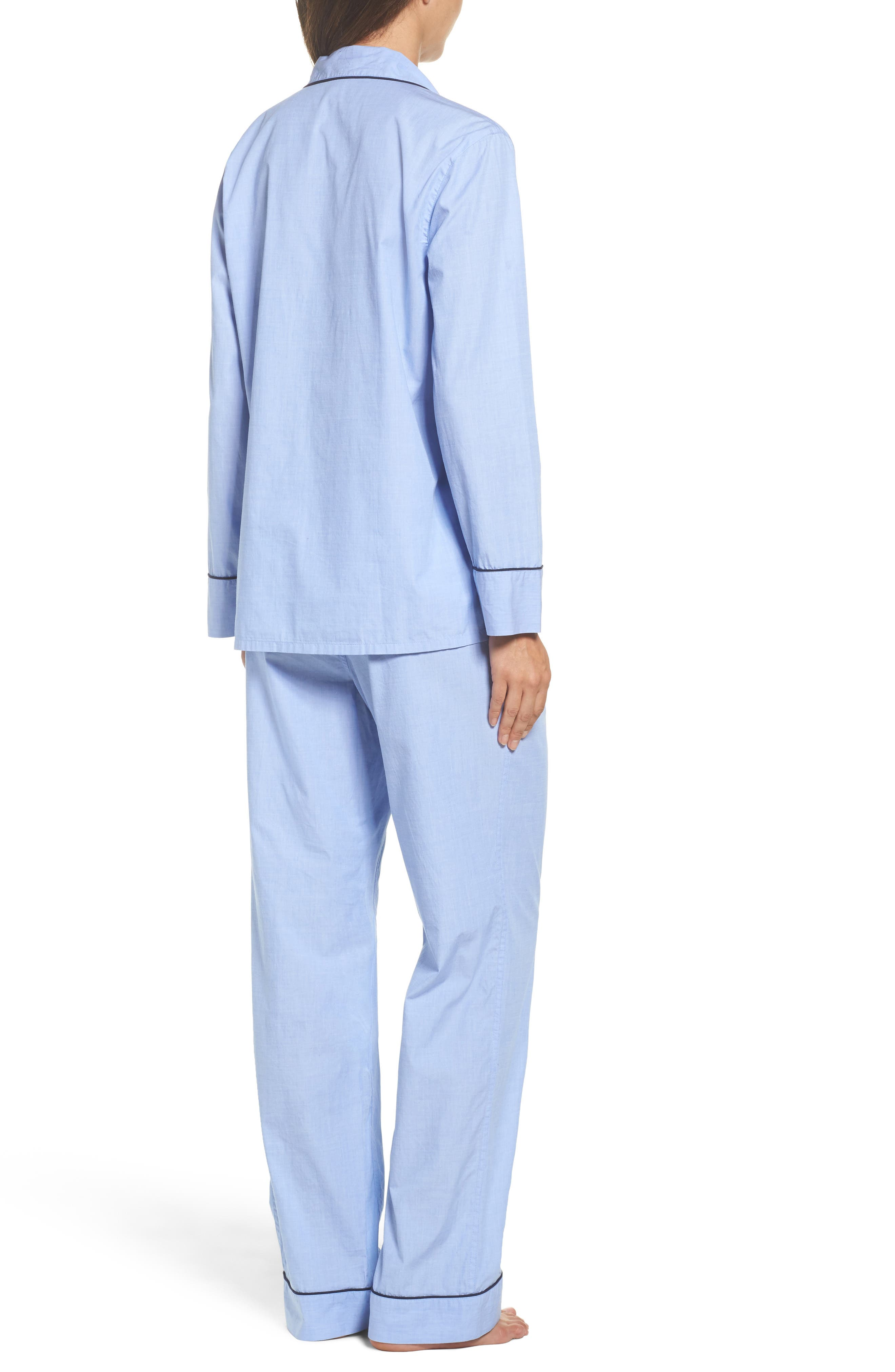 J.Crew Vintage Cotton Pajamas,                             Alternate thumbnail 2, color,                             Hydrangea