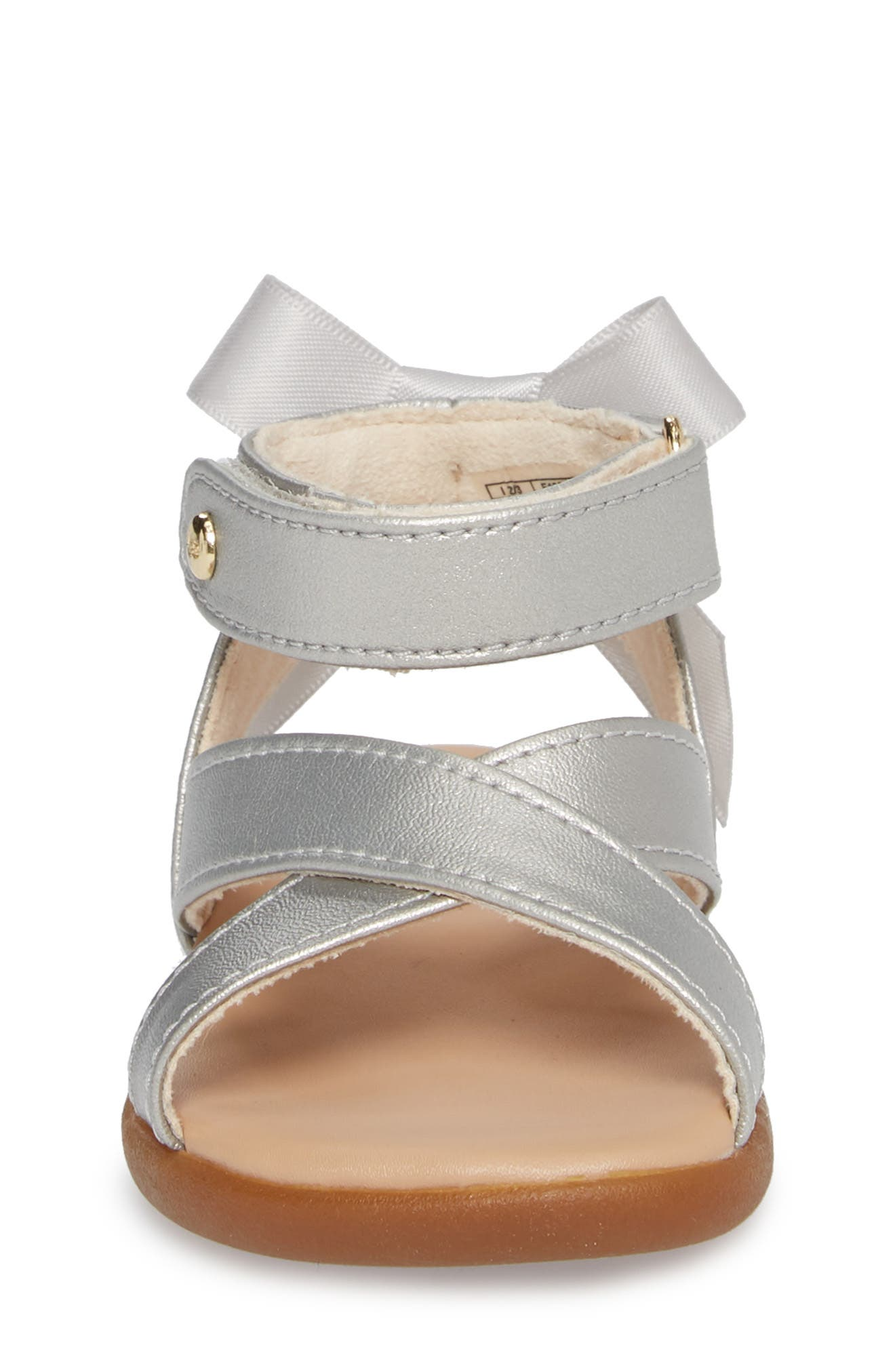 Maggiepie Sparkles Sandal,                             Alternate thumbnail 4, color,                             Silver