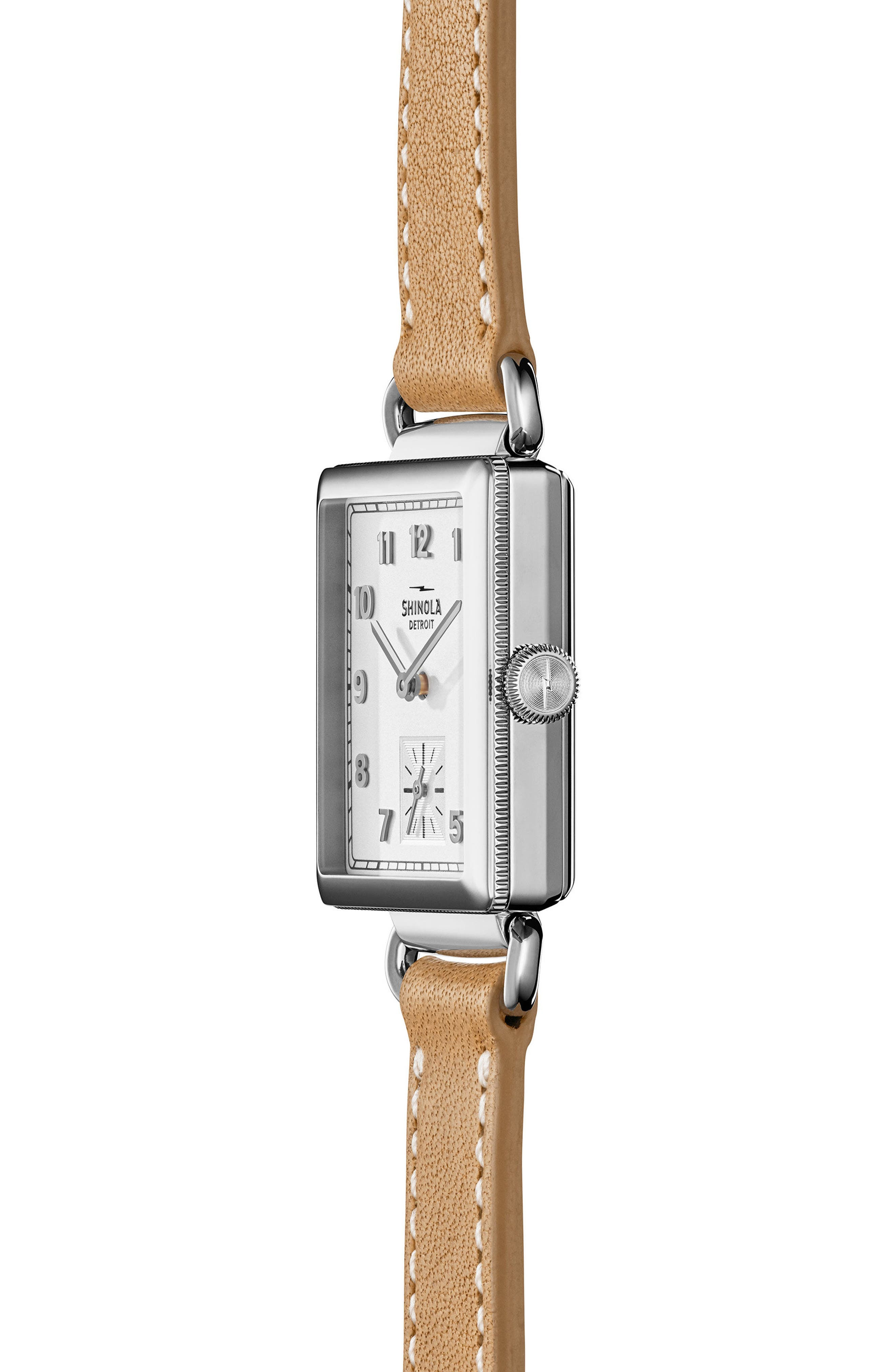 Alternate Image 2  - Shinola Cass Leather Strap Watch, 28mm