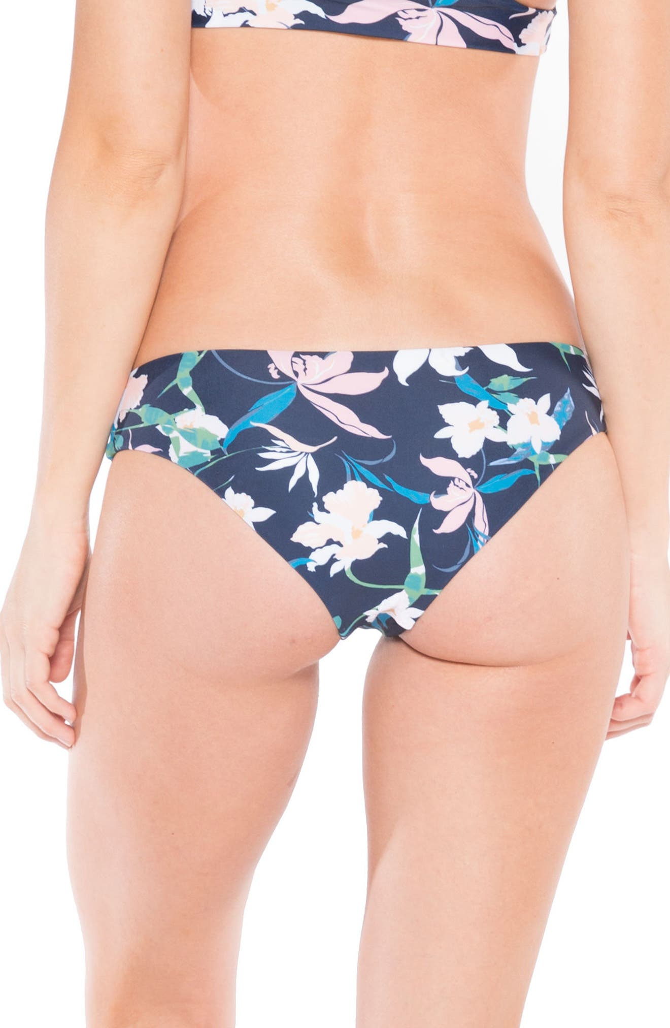 Arlo Hipster Bikini Bottoms,                             Alternate thumbnail 2, color,                             Navy Byrds Floral