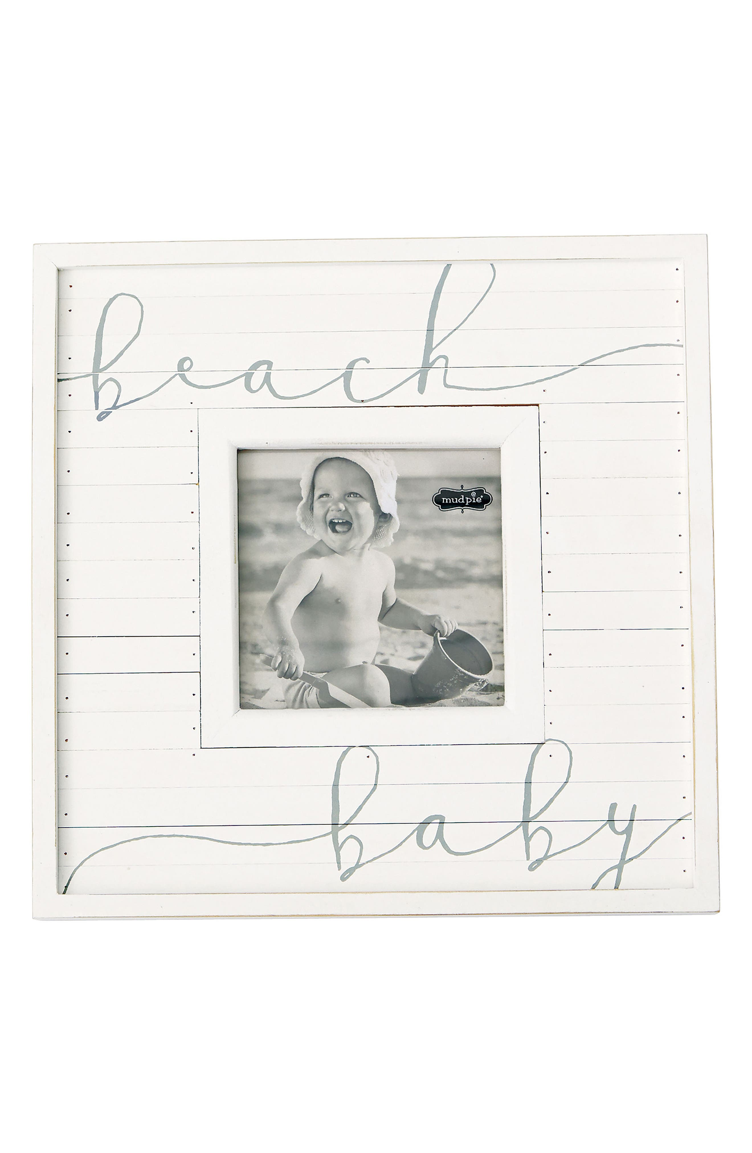 Beach Baby Picture Frame,                         Main,                         color, White