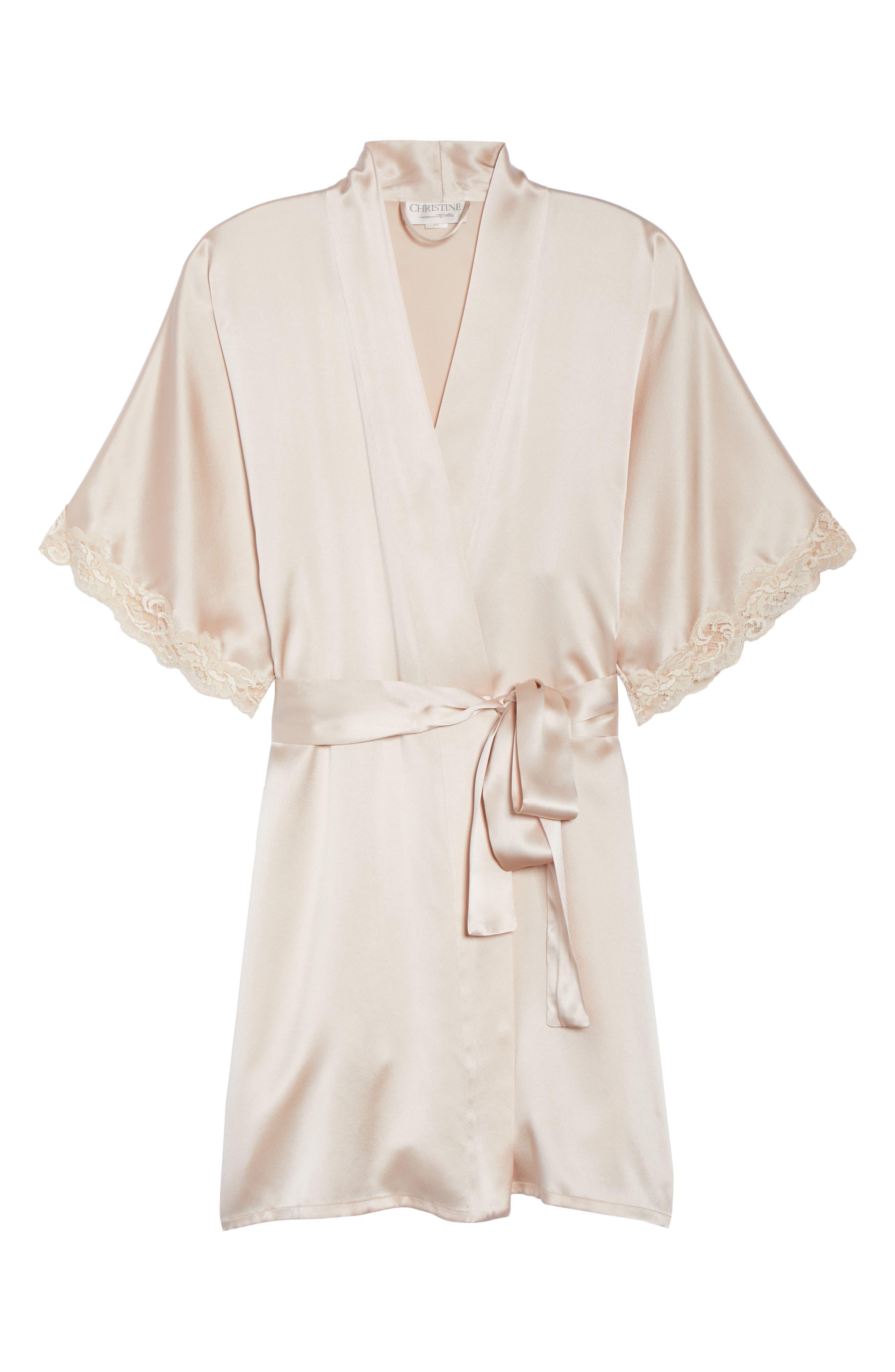 Alternate Image 6  - Christine Boudoir Silk Robe