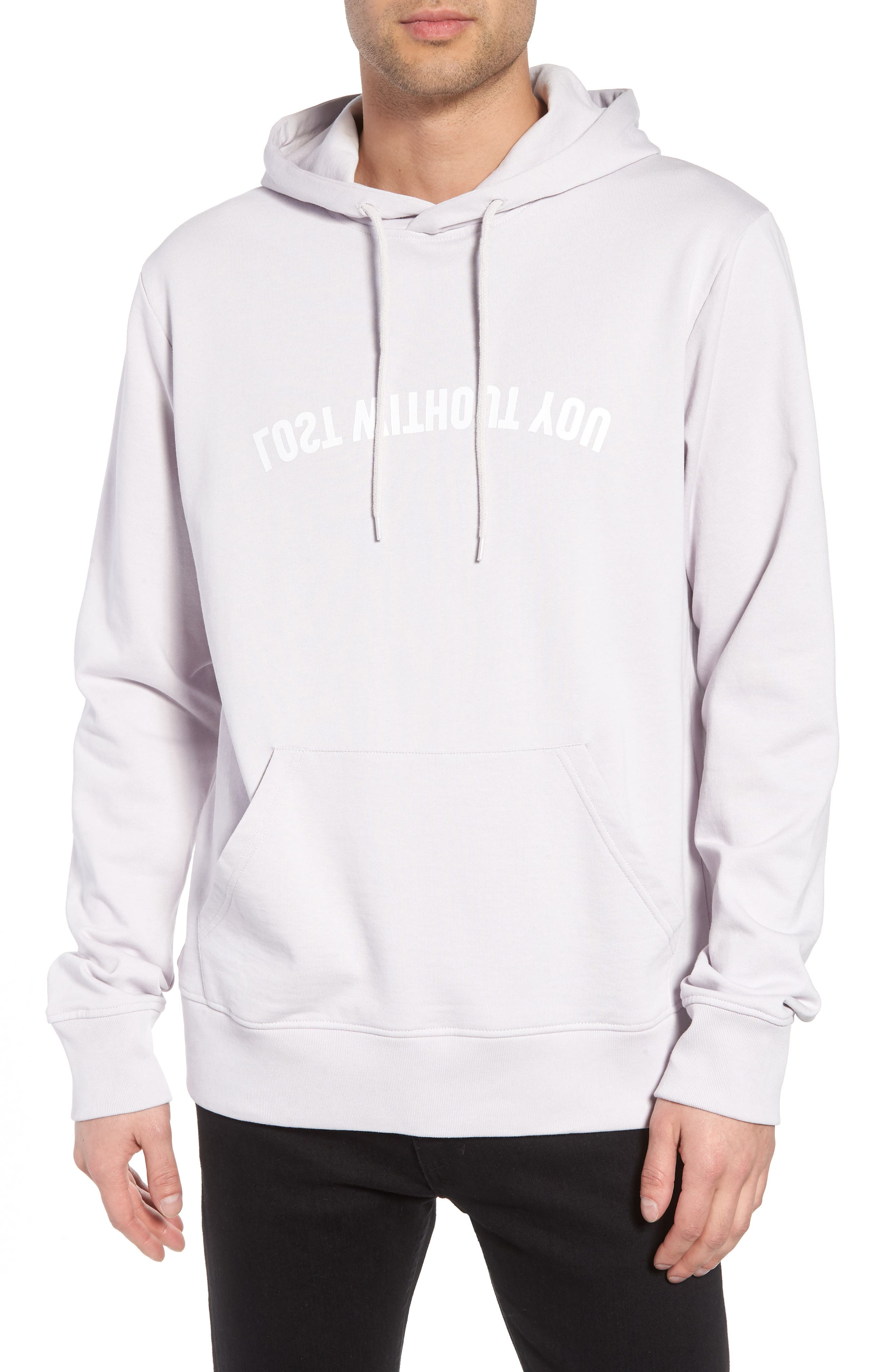 Mike Mirror Graphic Hoodie,                             Main thumbnail 1, color,                             Light Lilac