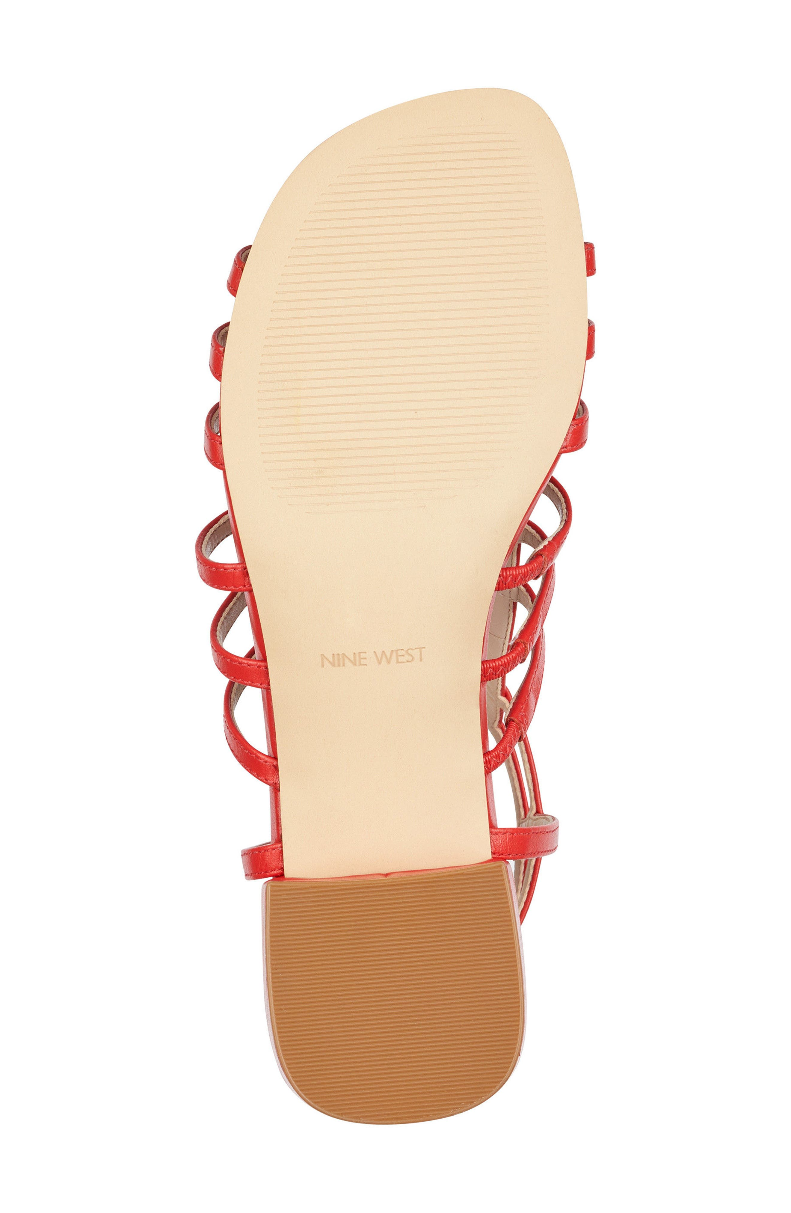Xerxes Sandal,                             Alternate thumbnail 6, color,                             Red Leather
