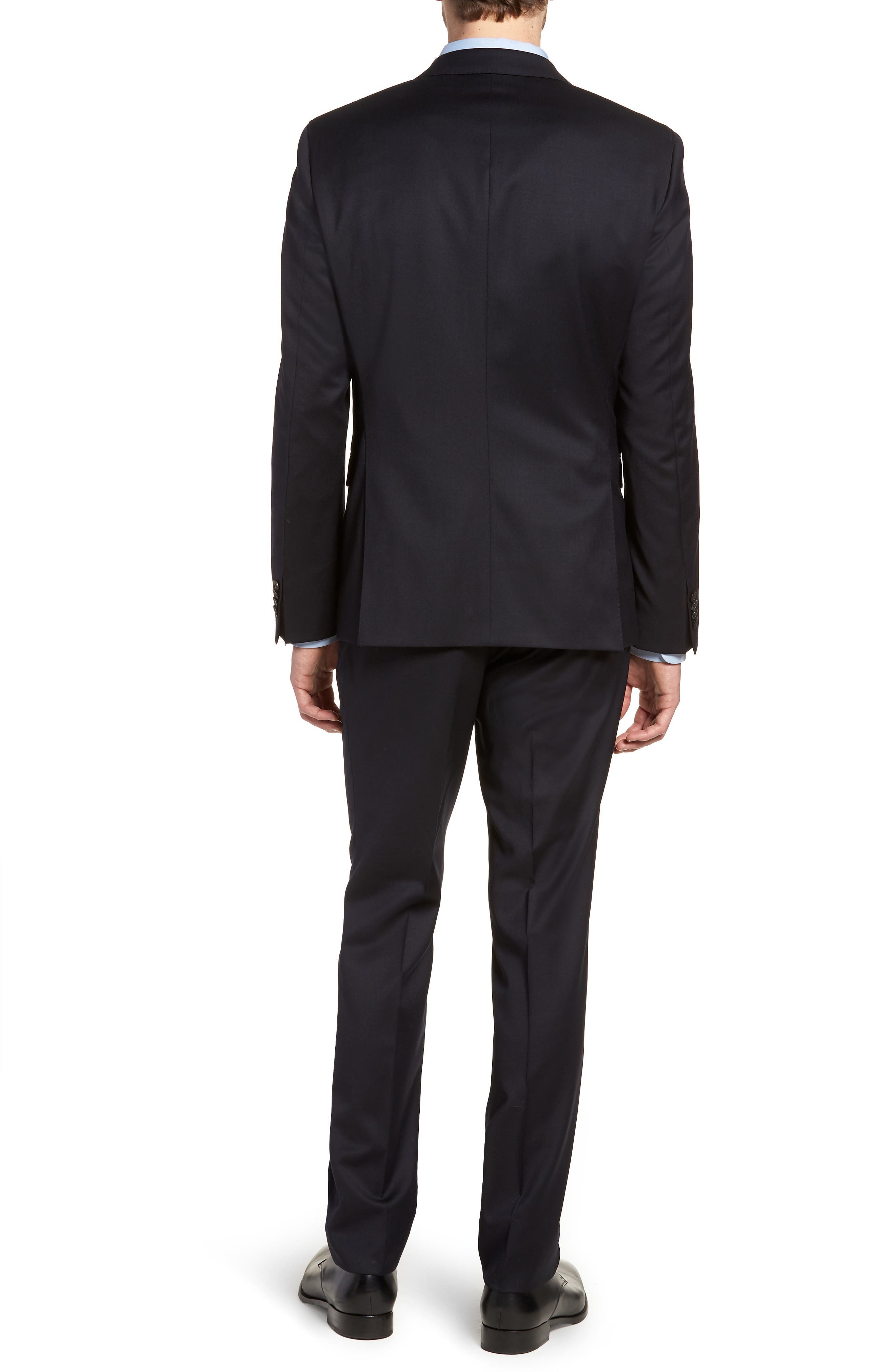 Ryan/Win Extra Trim Fit Solid Wool Suit,                             Alternate thumbnail 2, color,                             Dark Blue