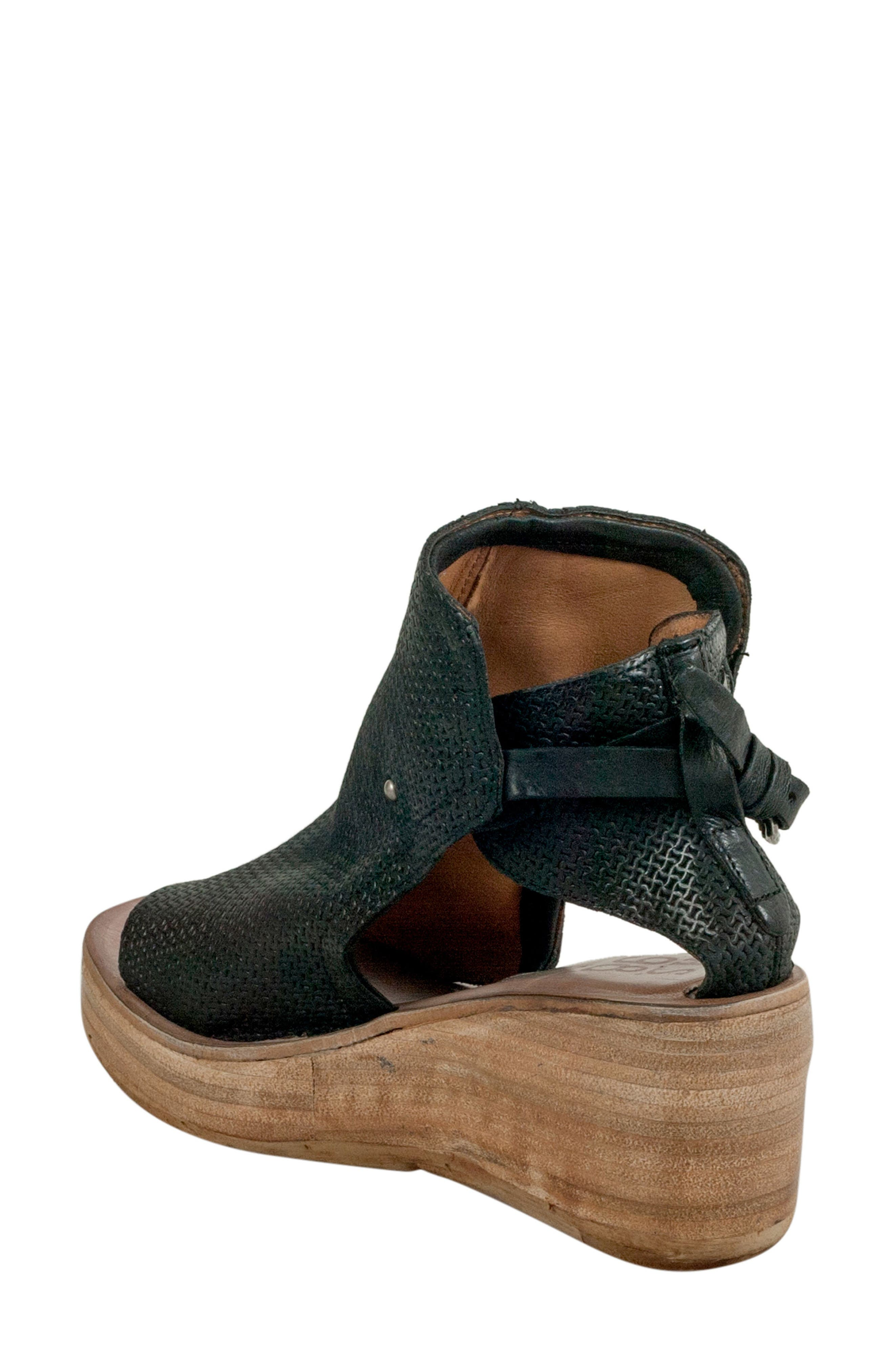 Nathan Platform Wedge Sandal,                             Alternate thumbnail 2, color,                             Black