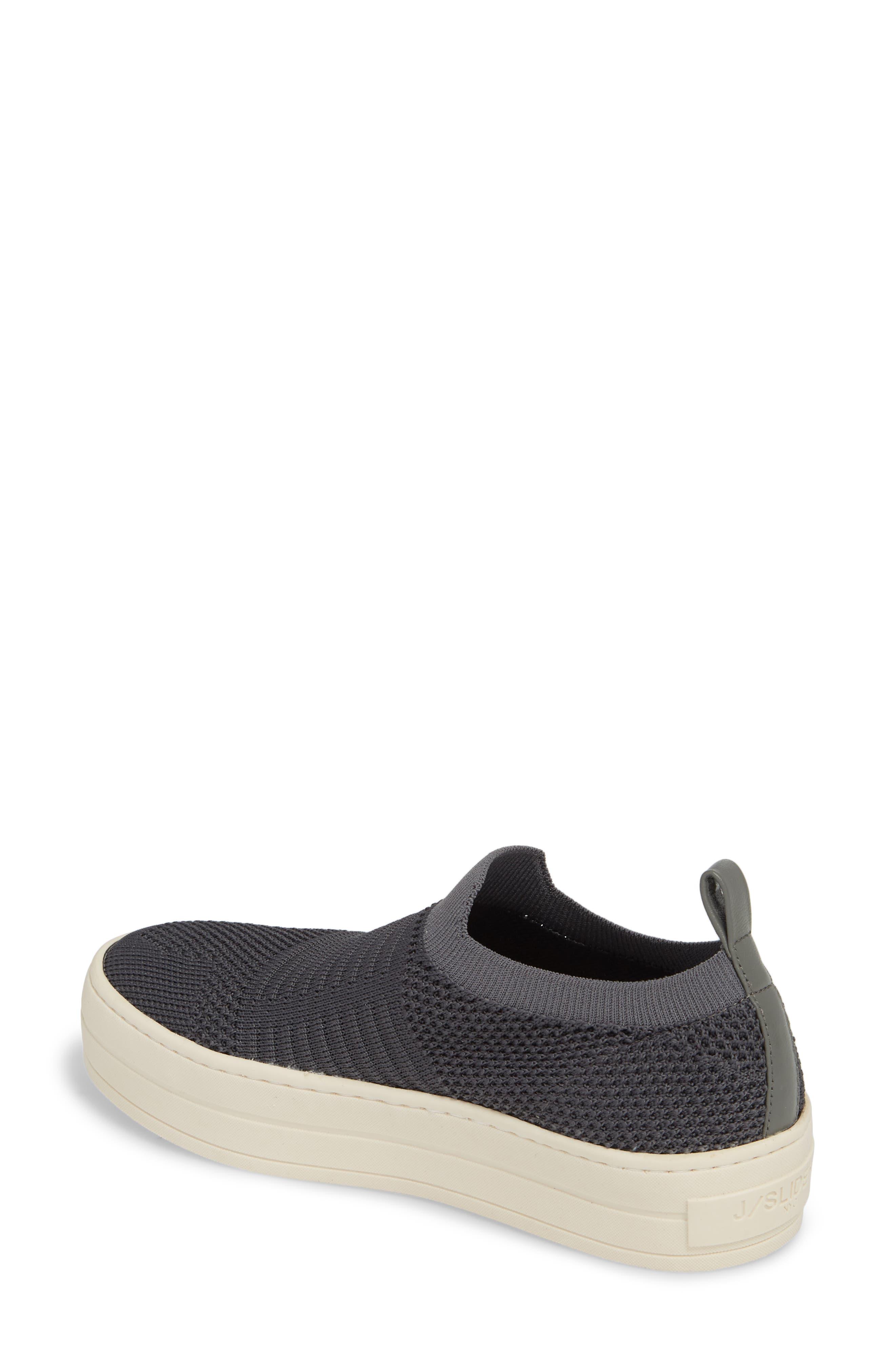 Hilo Platform Slip-On Sneaker,                             Alternate thumbnail 2, color,                             Grey Fabric