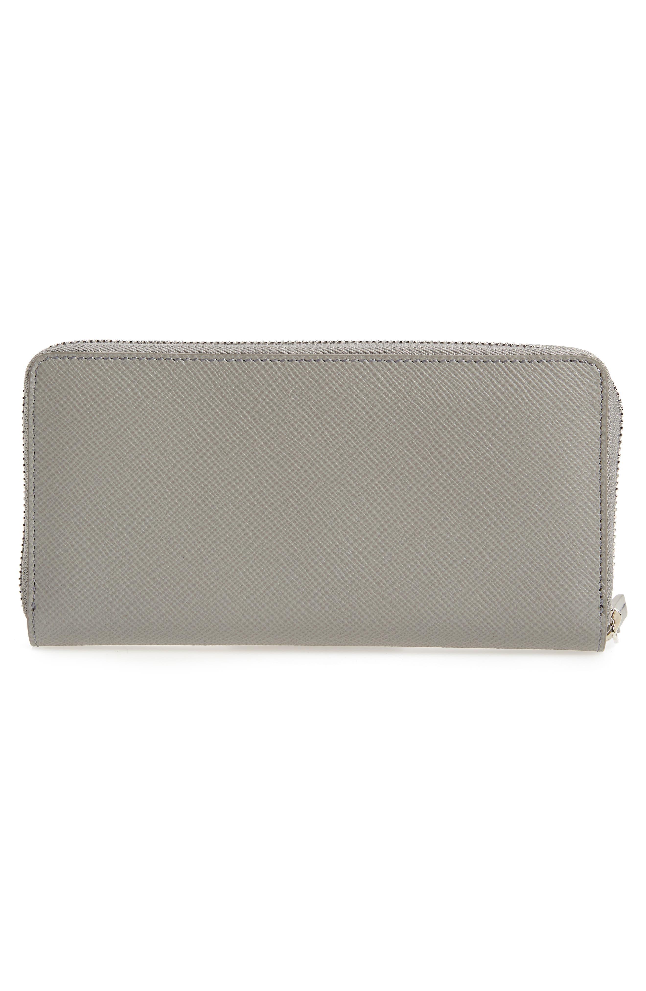 Large Panama Zip Around Wallet,                             Alternate thumbnail 4, color,                             Cold Grey