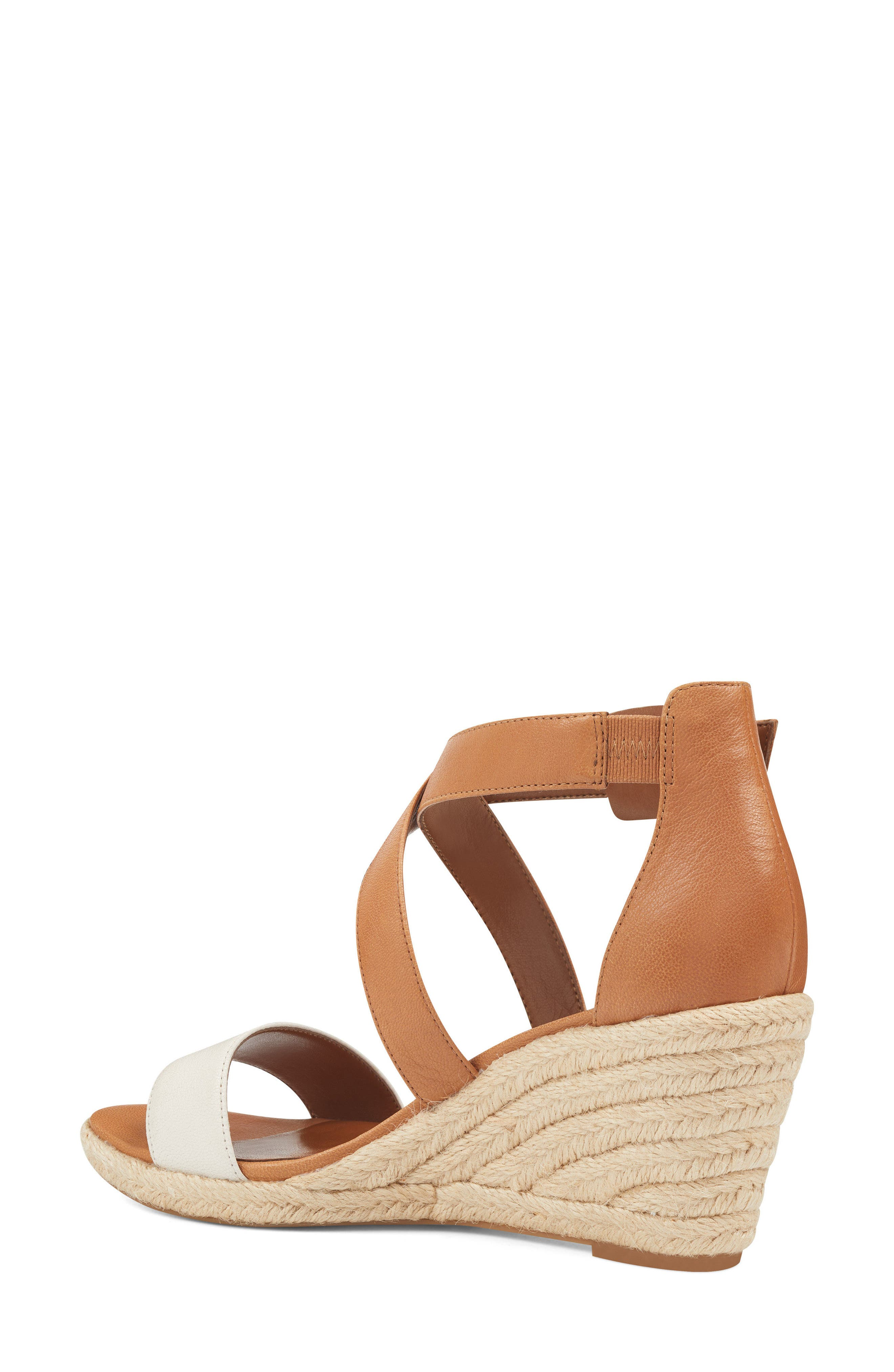 Jorjapeach Espadrille Wedge Sandal,                             Alternate thumbnail 2, color,                             White Leather