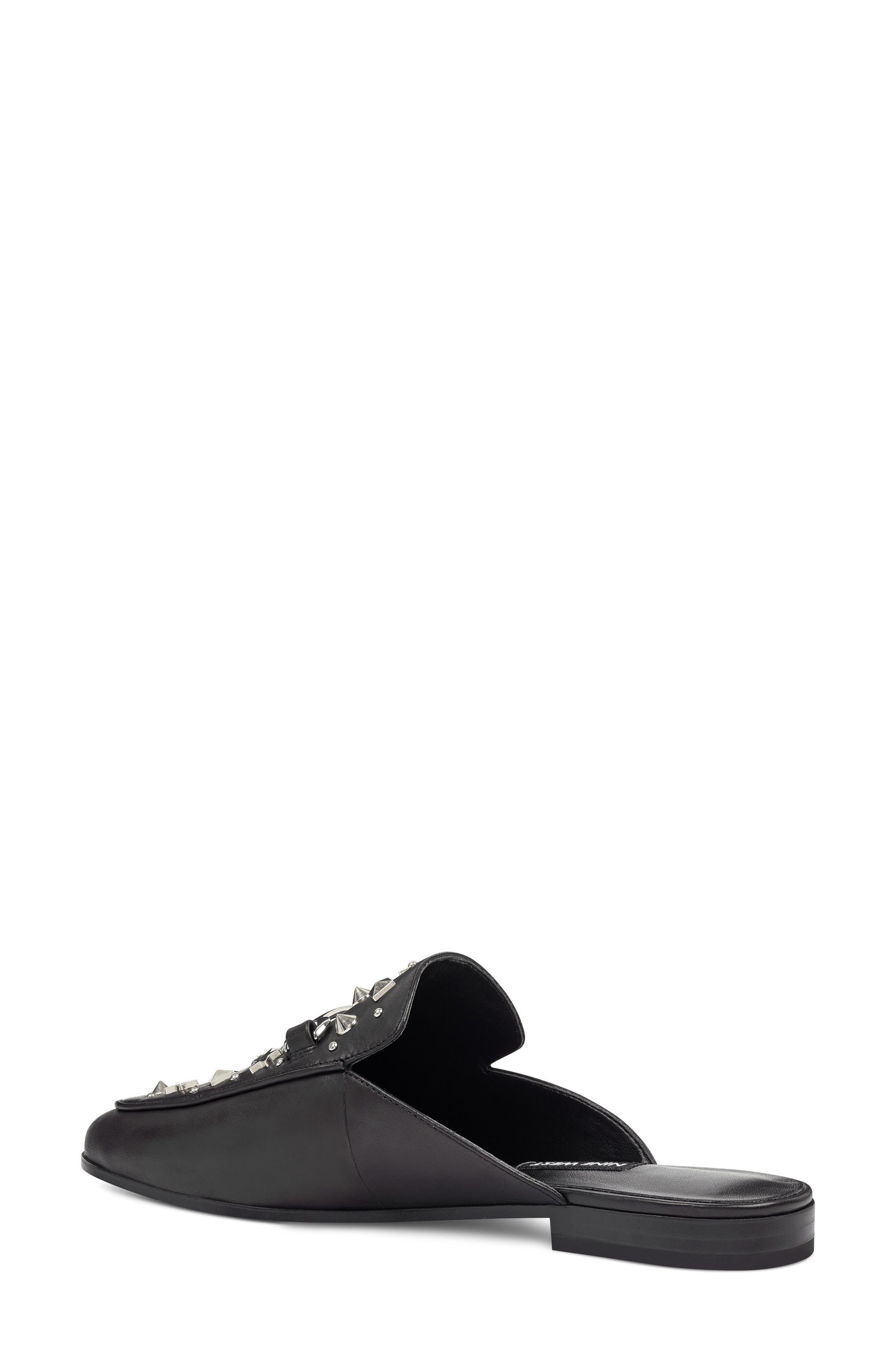 Welynne Mule,                             Alternate thumbnail 2, color,                             Black Leather