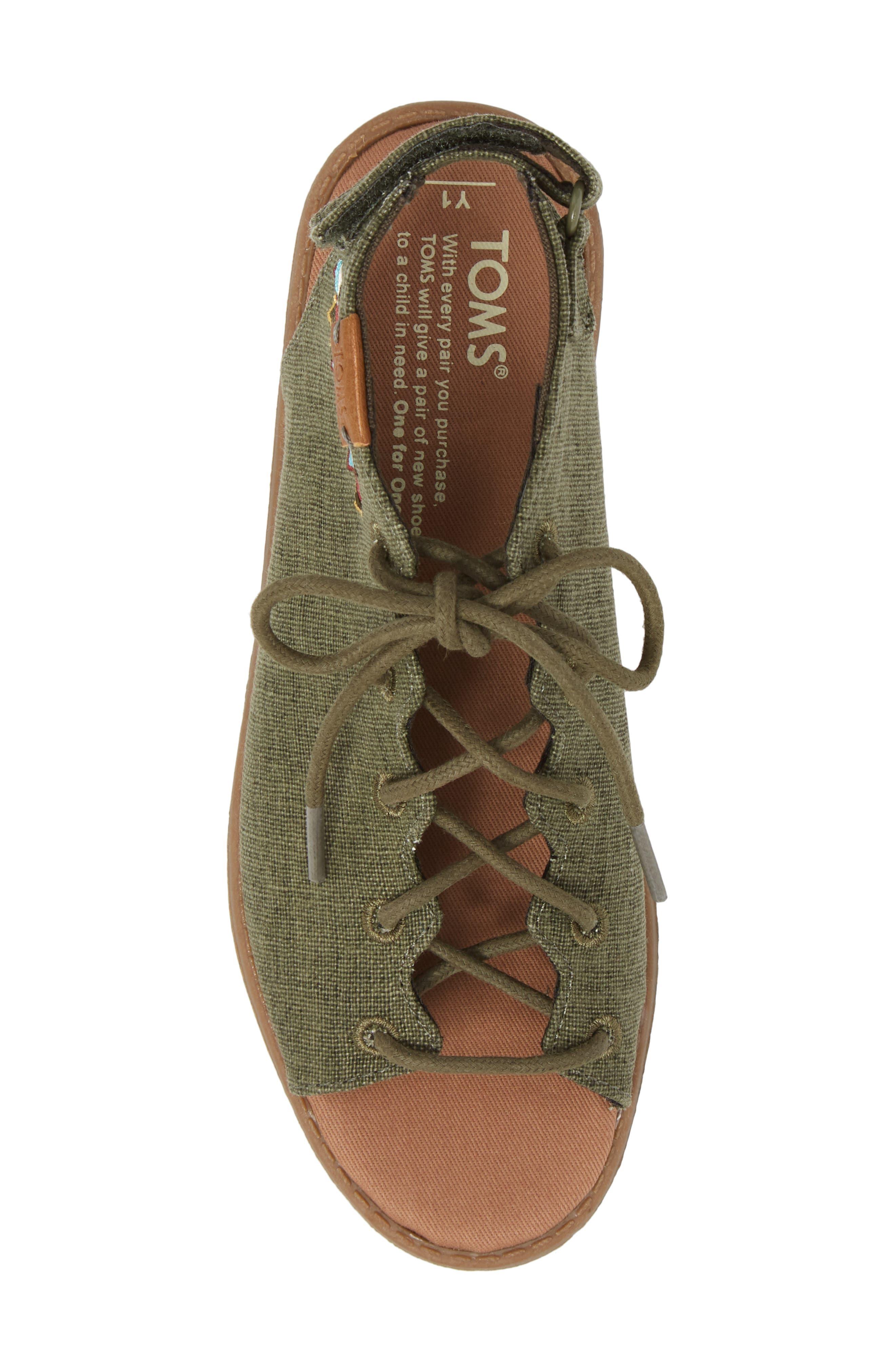 Uma Sandal,                             Alternate thumbnail 5, color,                             Cypress Coated Linen