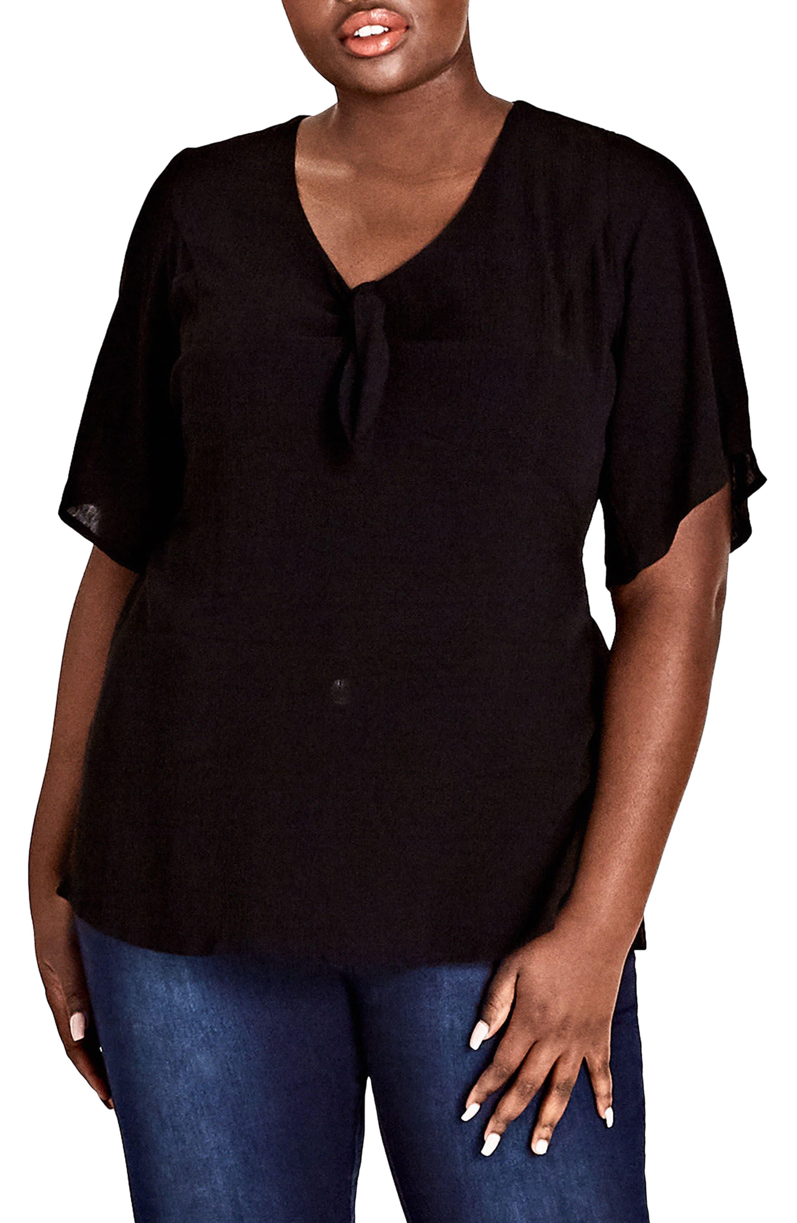 Festive Top,                         Main,                         color, Black