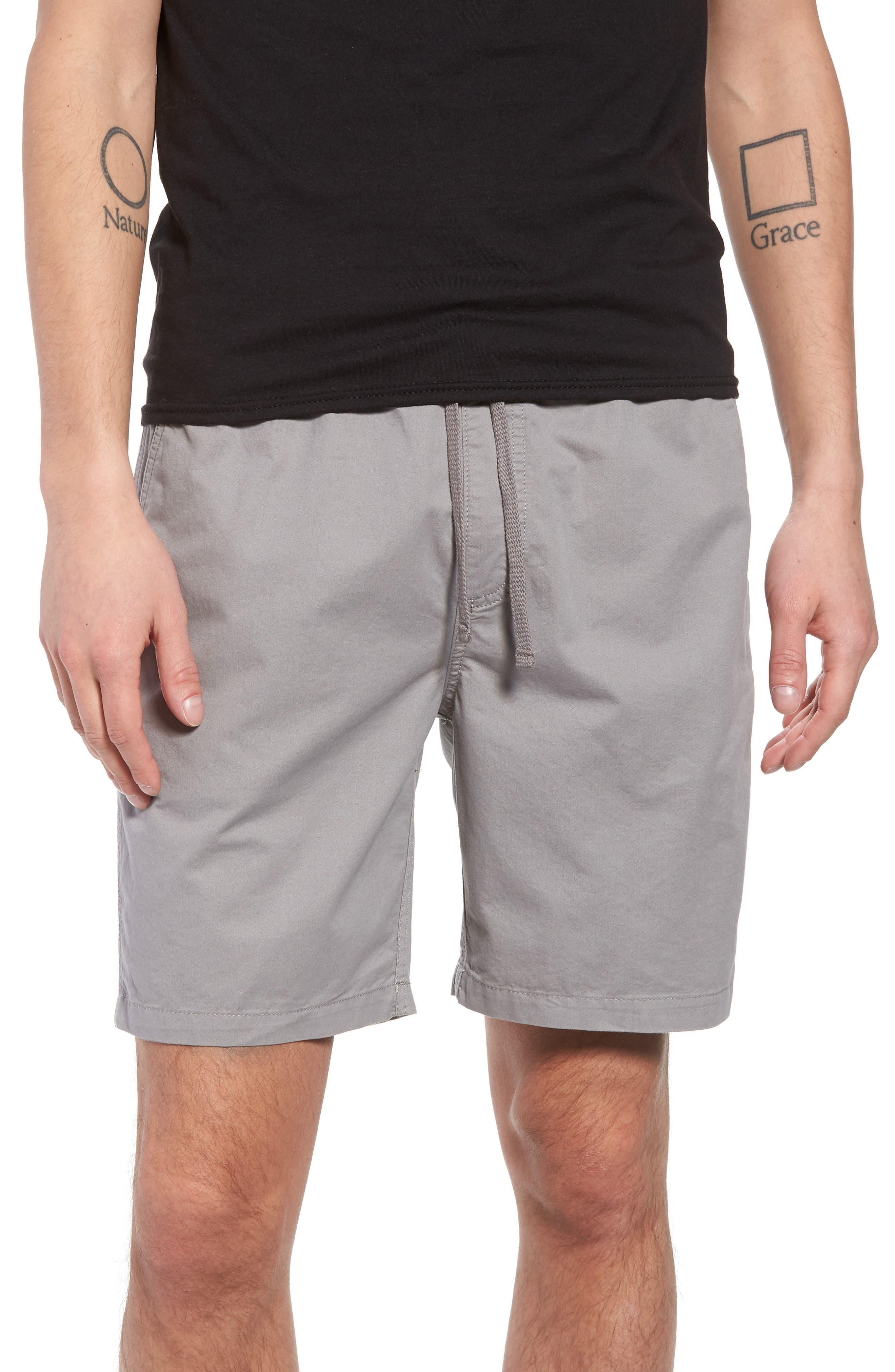 Range Drawstring Shorts,                             Main thumbnail 1, color,                             Frost Grey