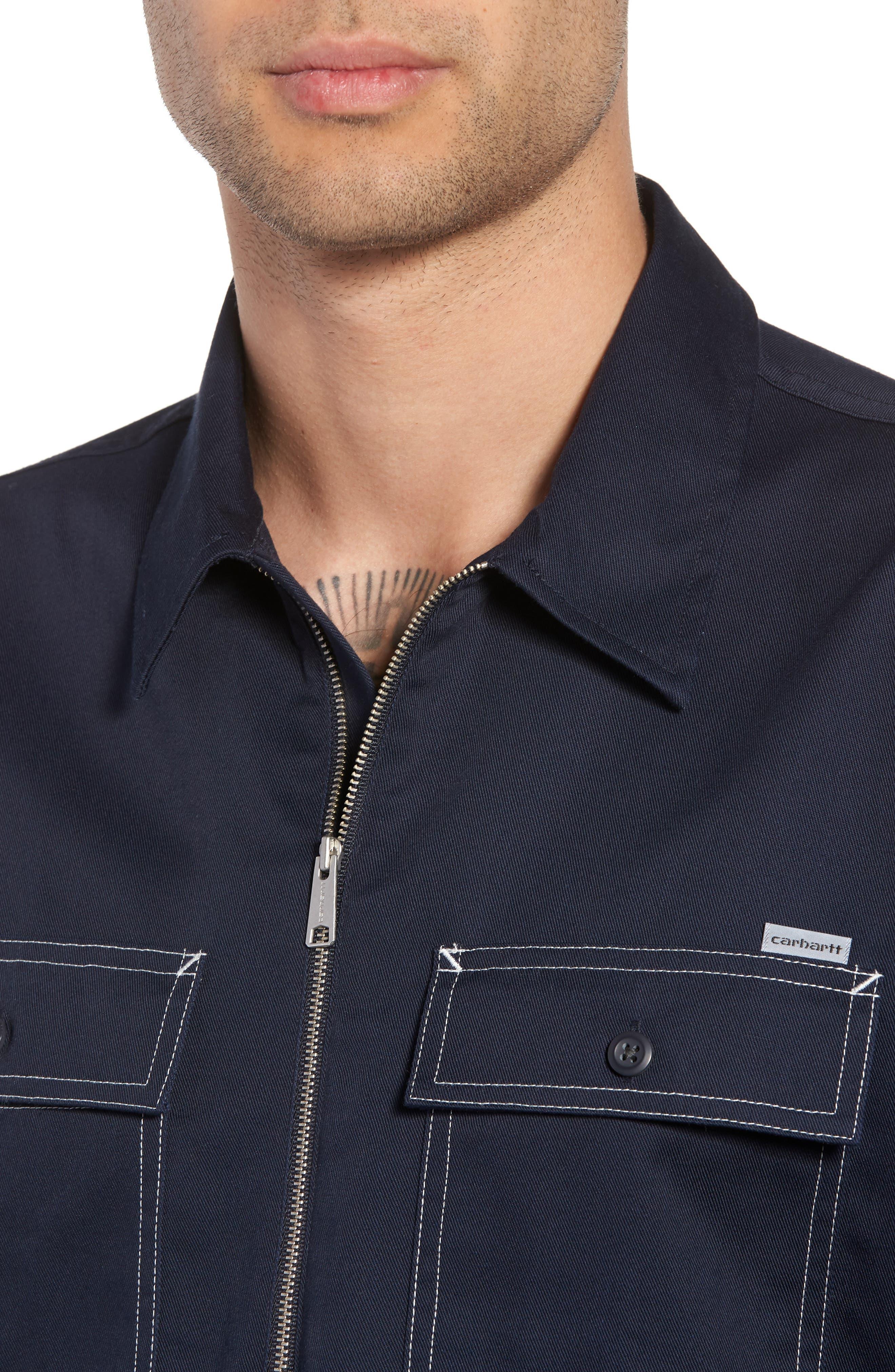 Medford Woven Shirt,                             Alternate thumbnail 2, color,                             Dark Navy