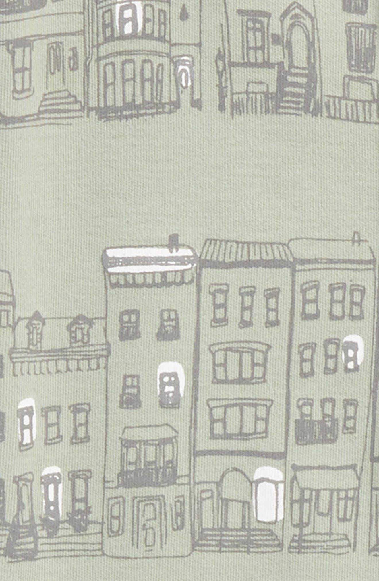 Organic Cotton Footie,                             Alternate thumbnail 2, color,                             City Block