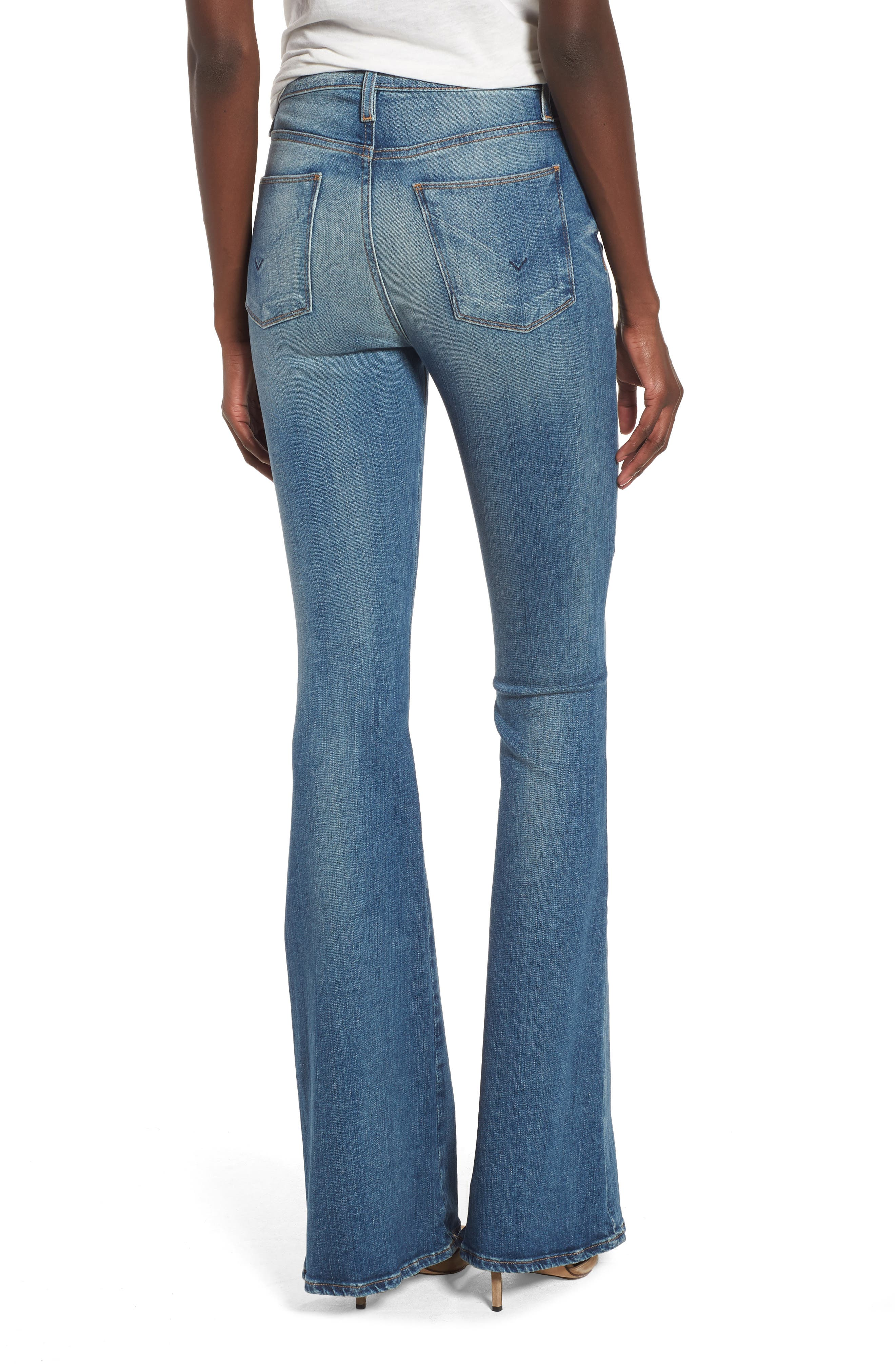 Holly High Waist Flare Jeans,                             Alternate thumbnail 3, color,                             First Date