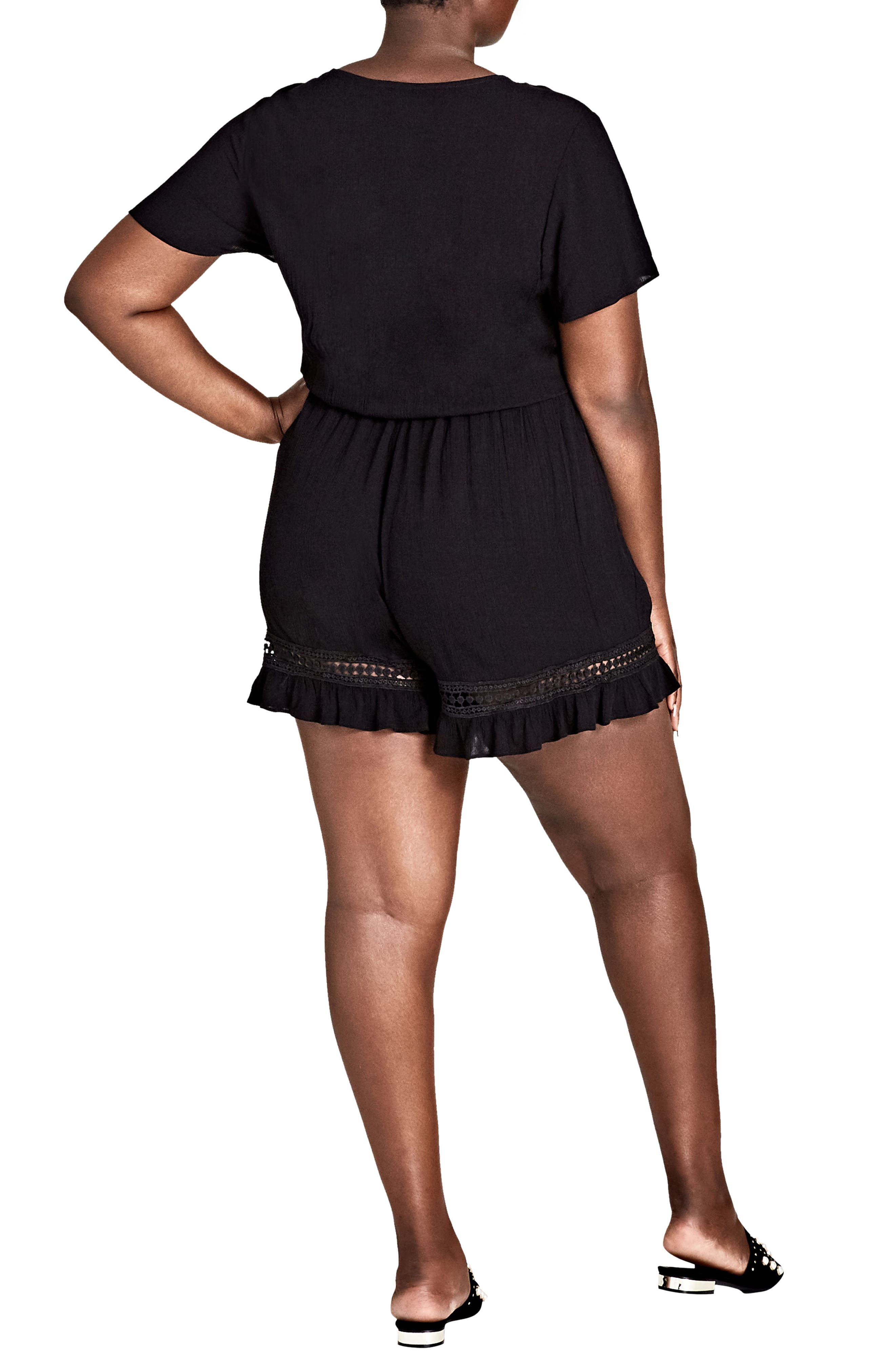 Holiday Fun Romper,                             Alternate thumbnail 2, color,                             Black