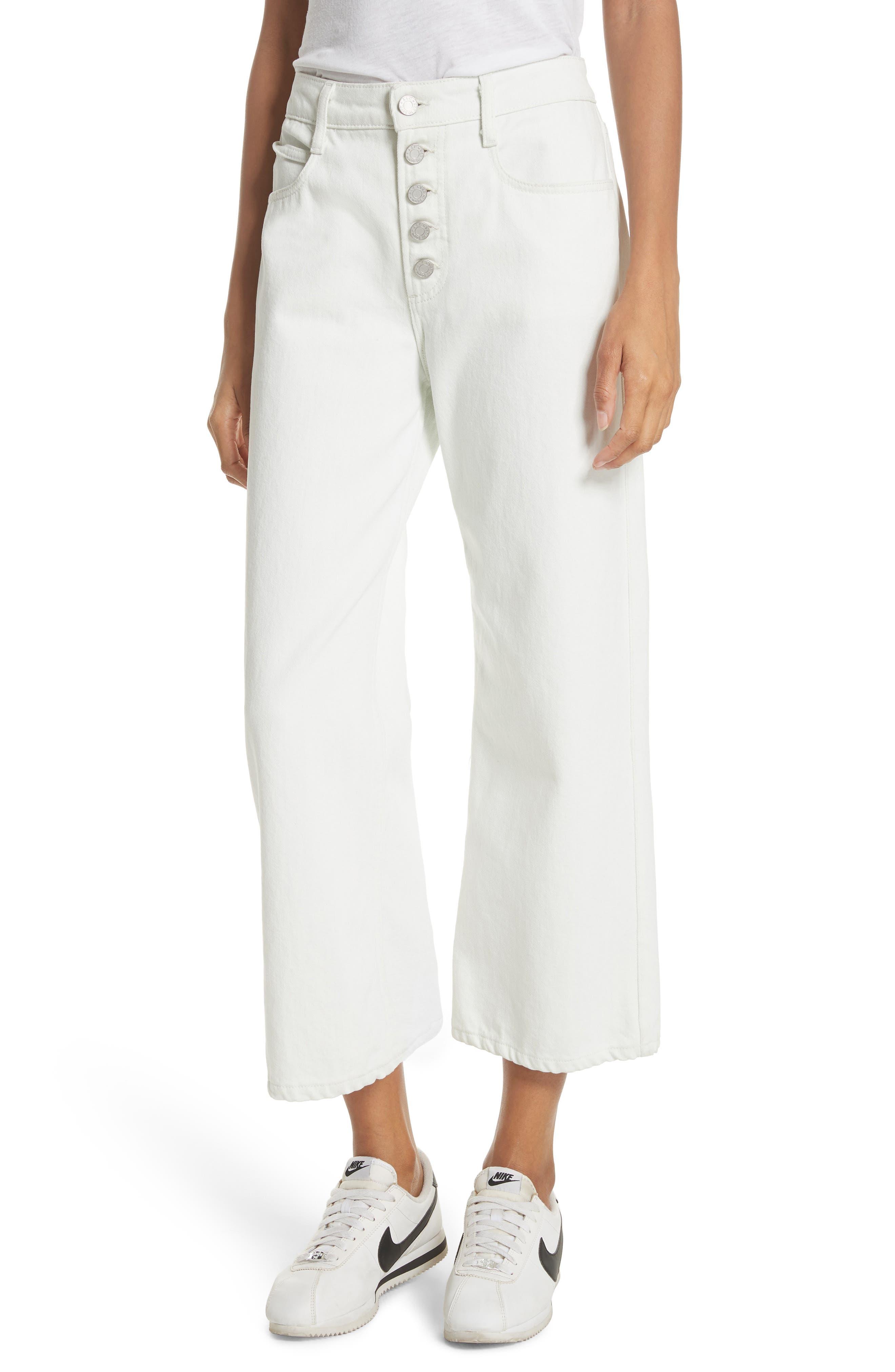A.L.C. Montag Wide Leg Crop Jeans (Vintage Blue)