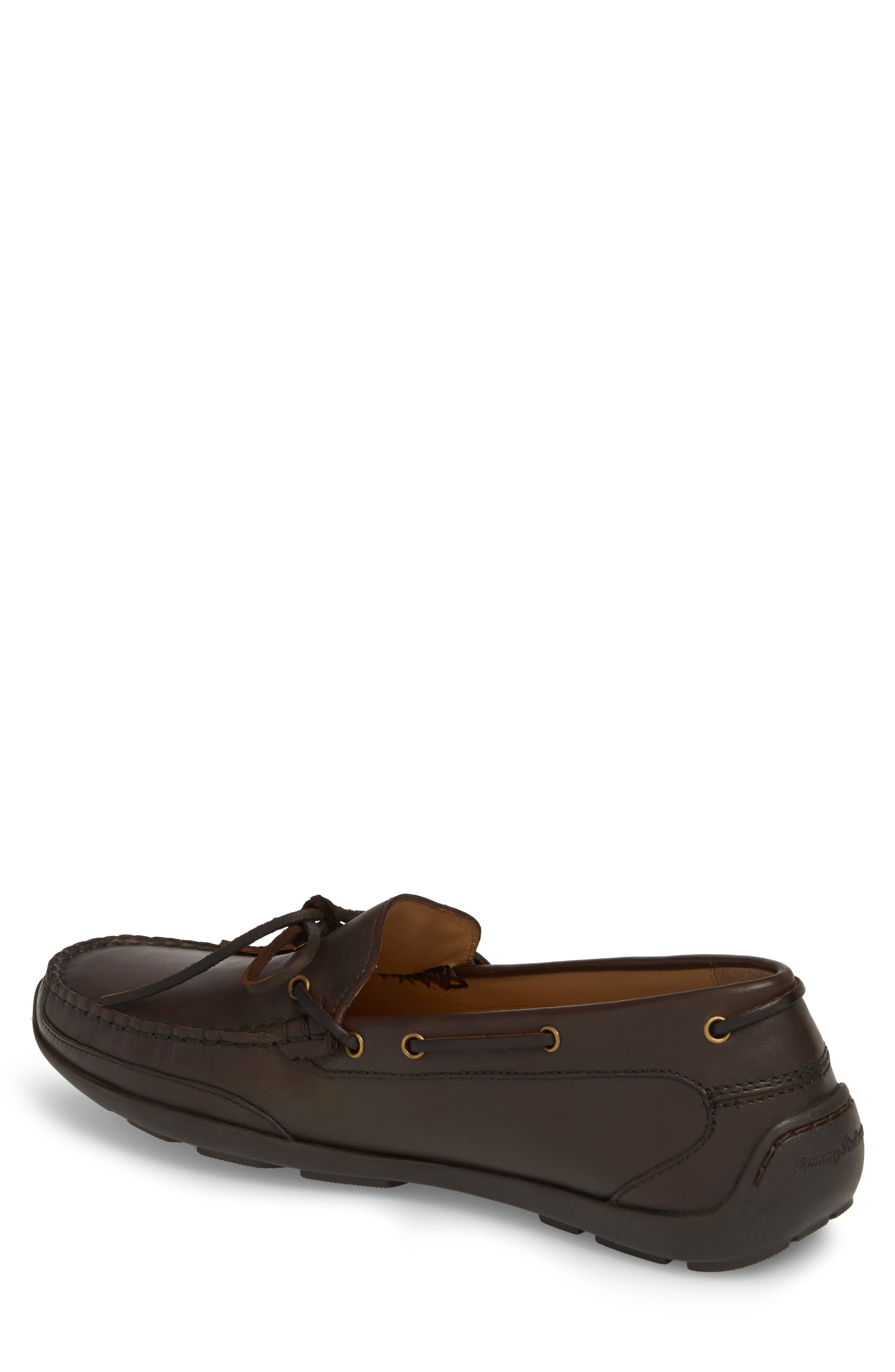 Tangier Driving Shoe,                             Alternate thumbnail 2, color,                             Medium Brown Leather