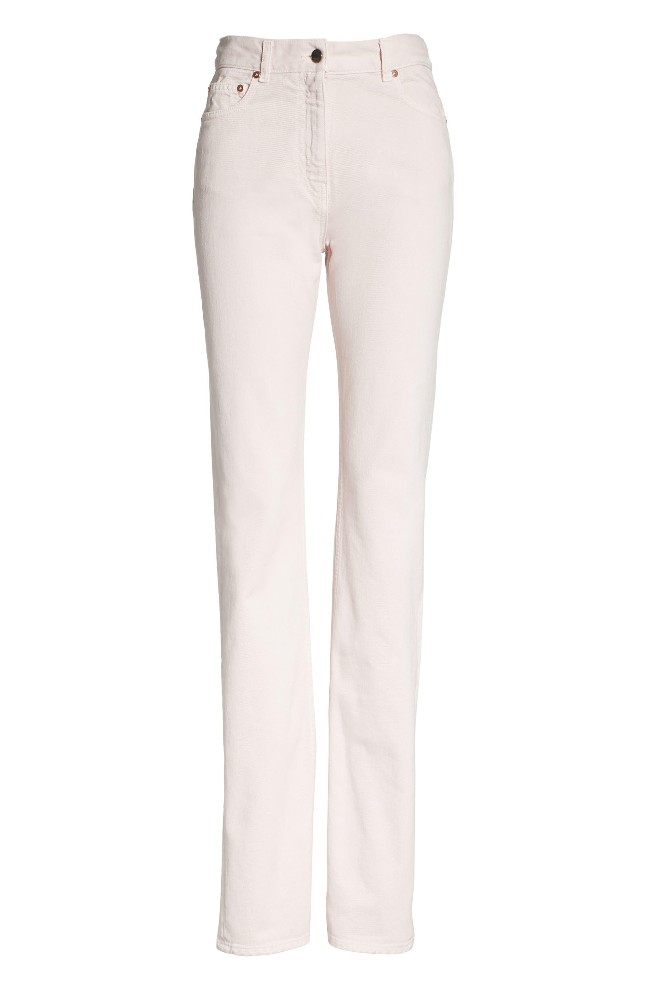 Straight Leg Jeans,                             Alternate thumbnail 6, color,                             Lilac