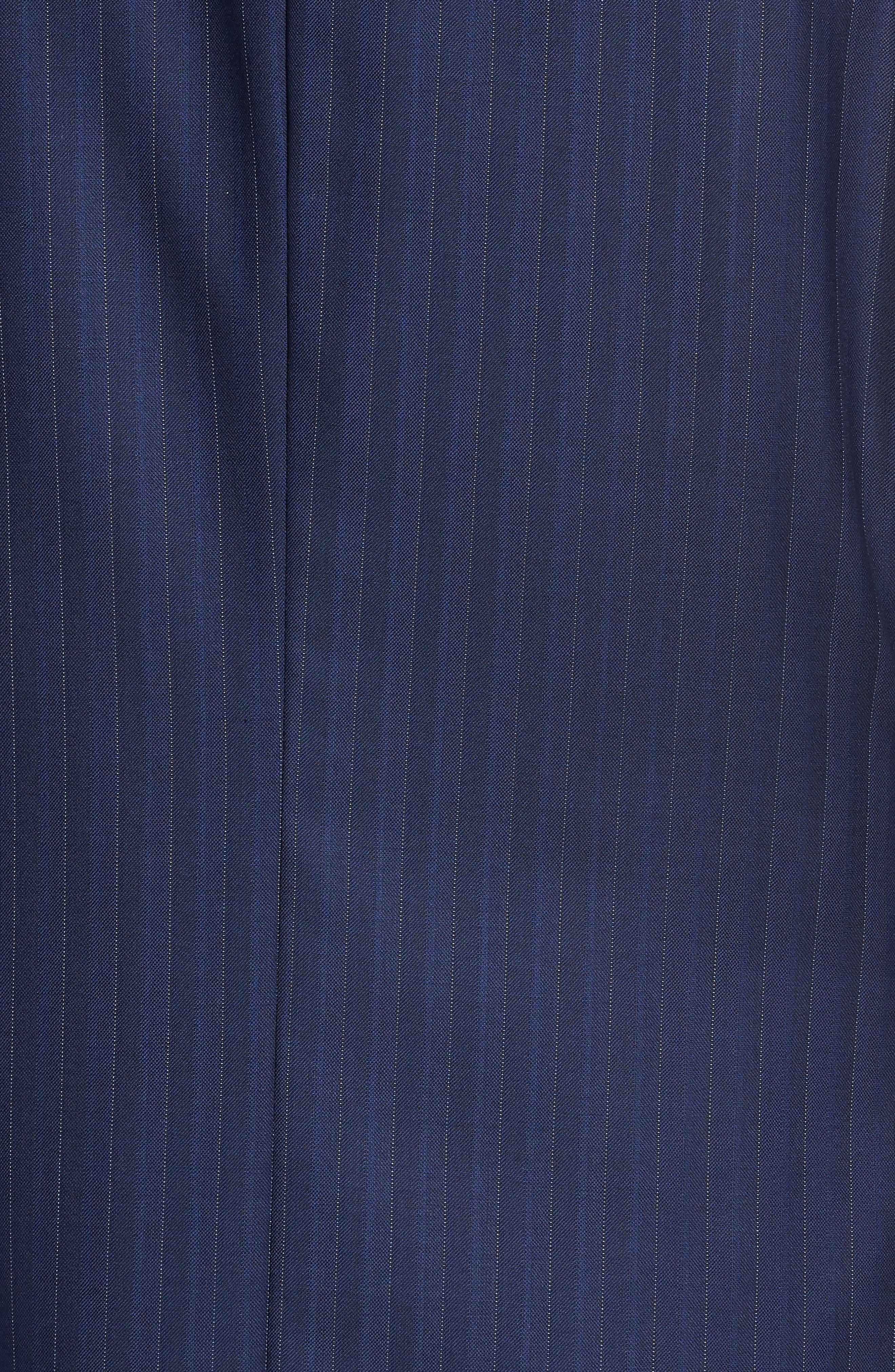 Classic B Fit Stripe Wool Suit,                             Alternate thumbnail 7, color,                             Navy Stripe