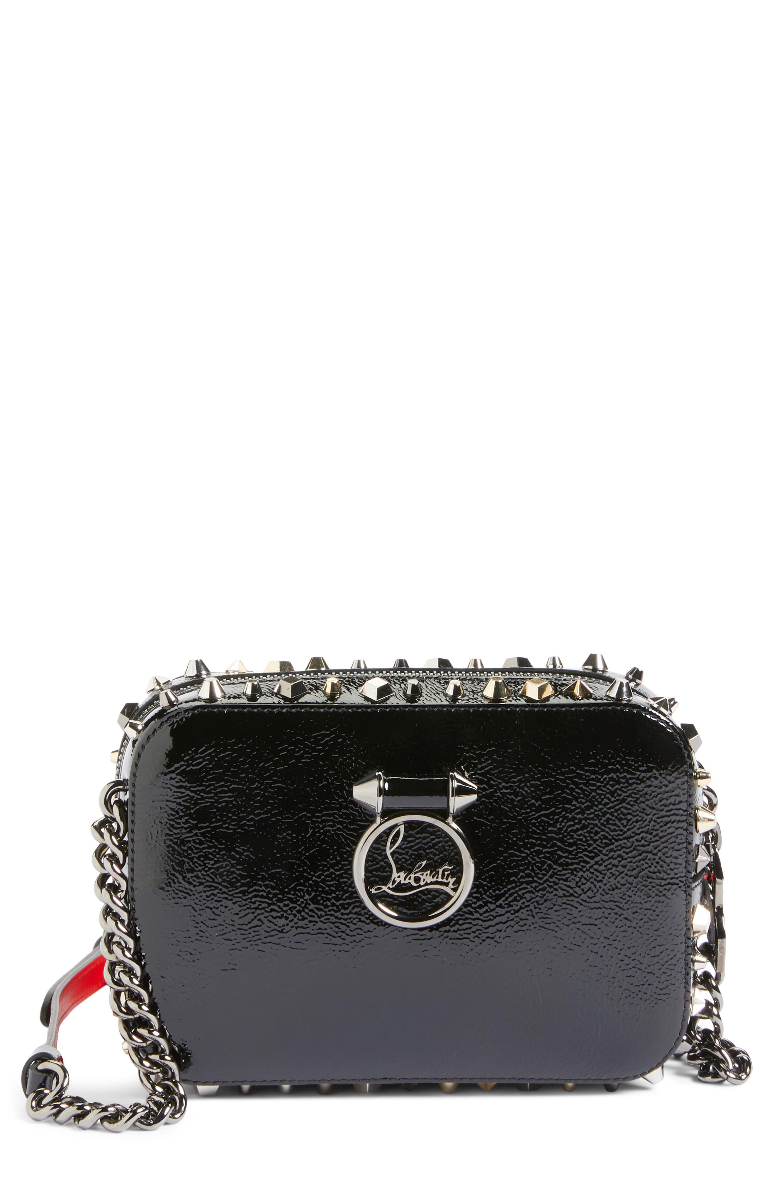 Alternate Image 1 Selected - Christian Louboutin Mini Rubylou Patent Leather Crossbody Bag