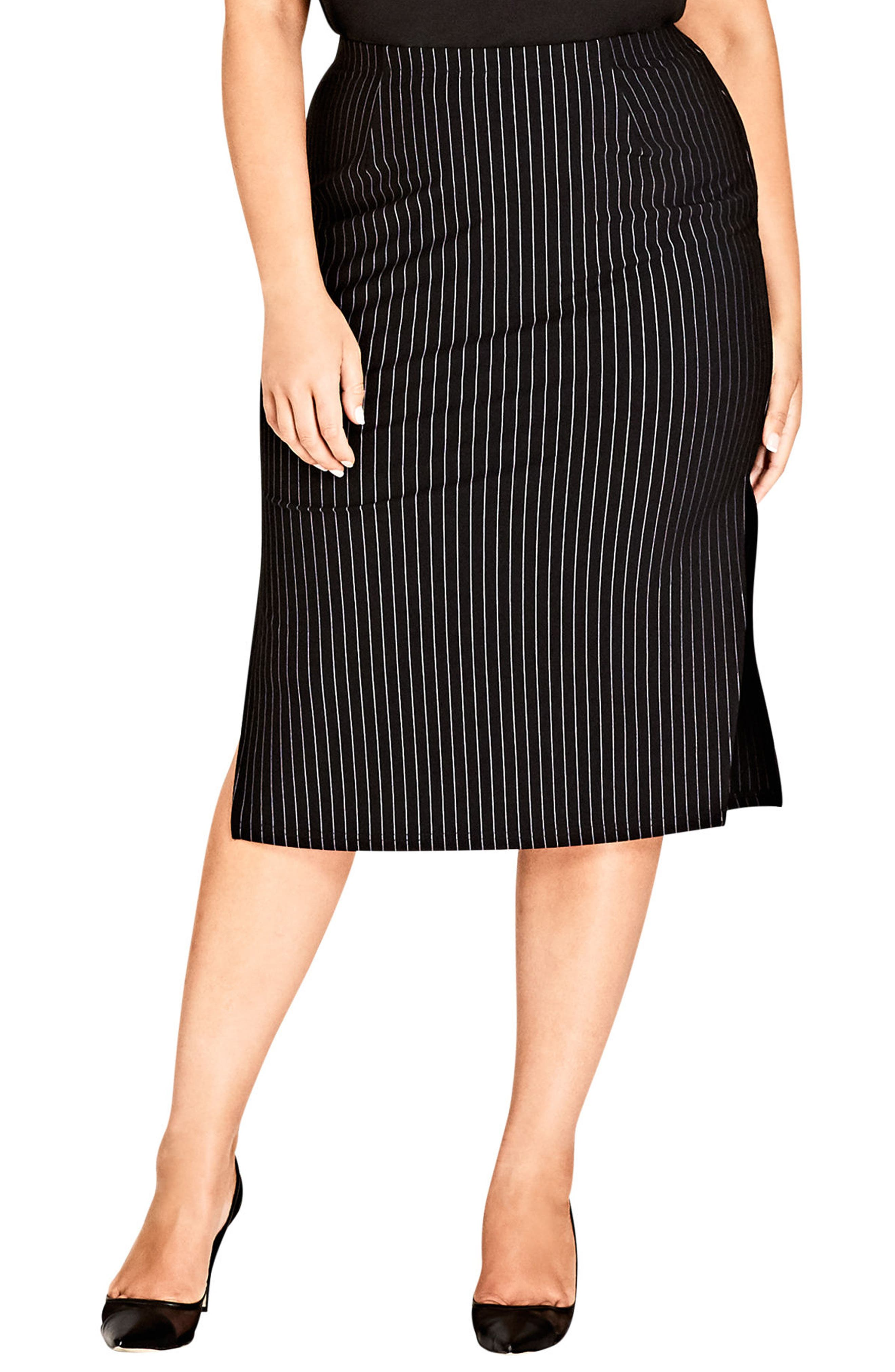 Chic City On Point Pencil skirt,                             Main thumbnail 1, color,                             Pin Stripe