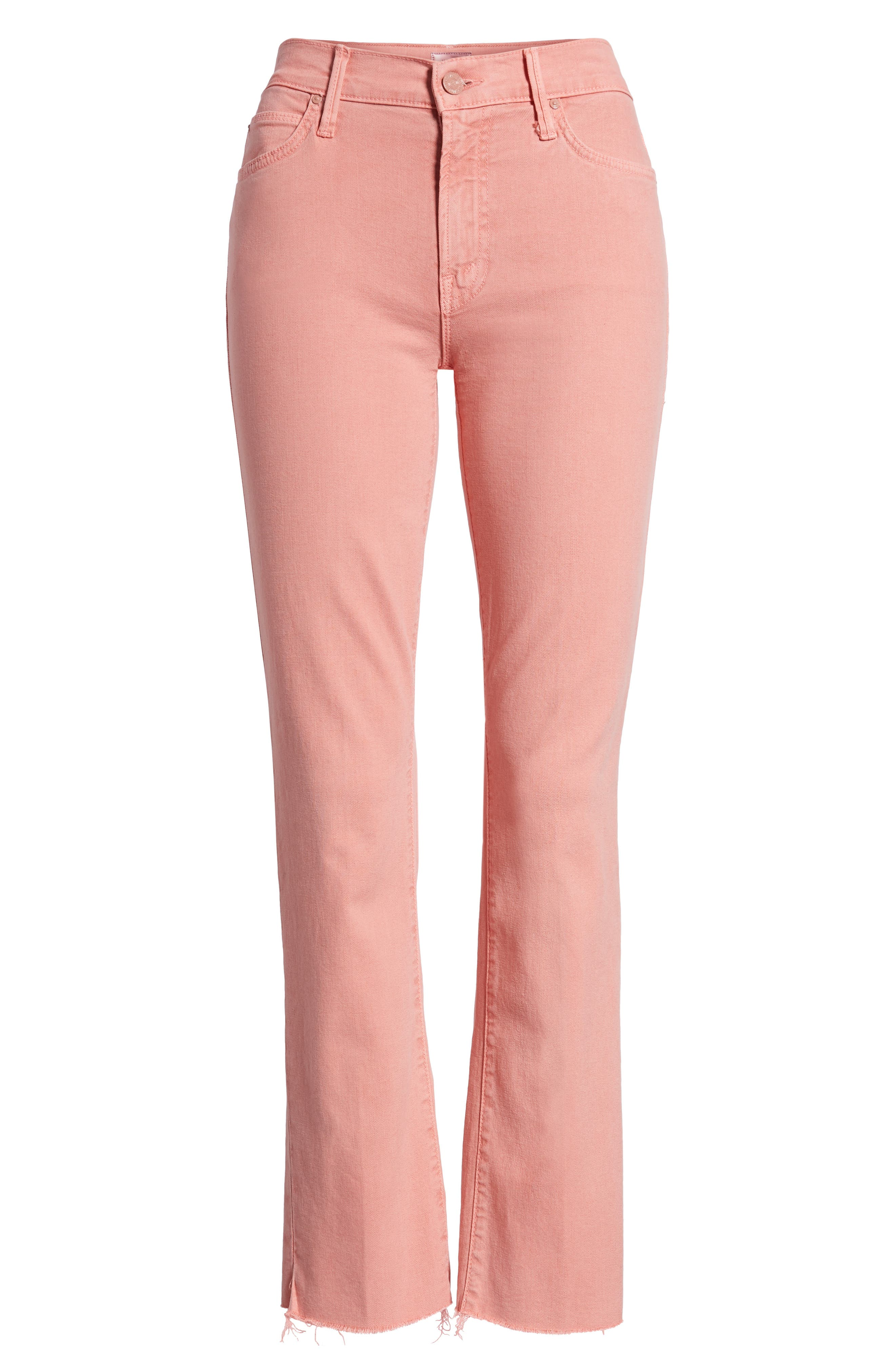 The Rascal Ankle Snippet Jeans,                             Alternate thumbnail 6, color,                             Dusty Pink