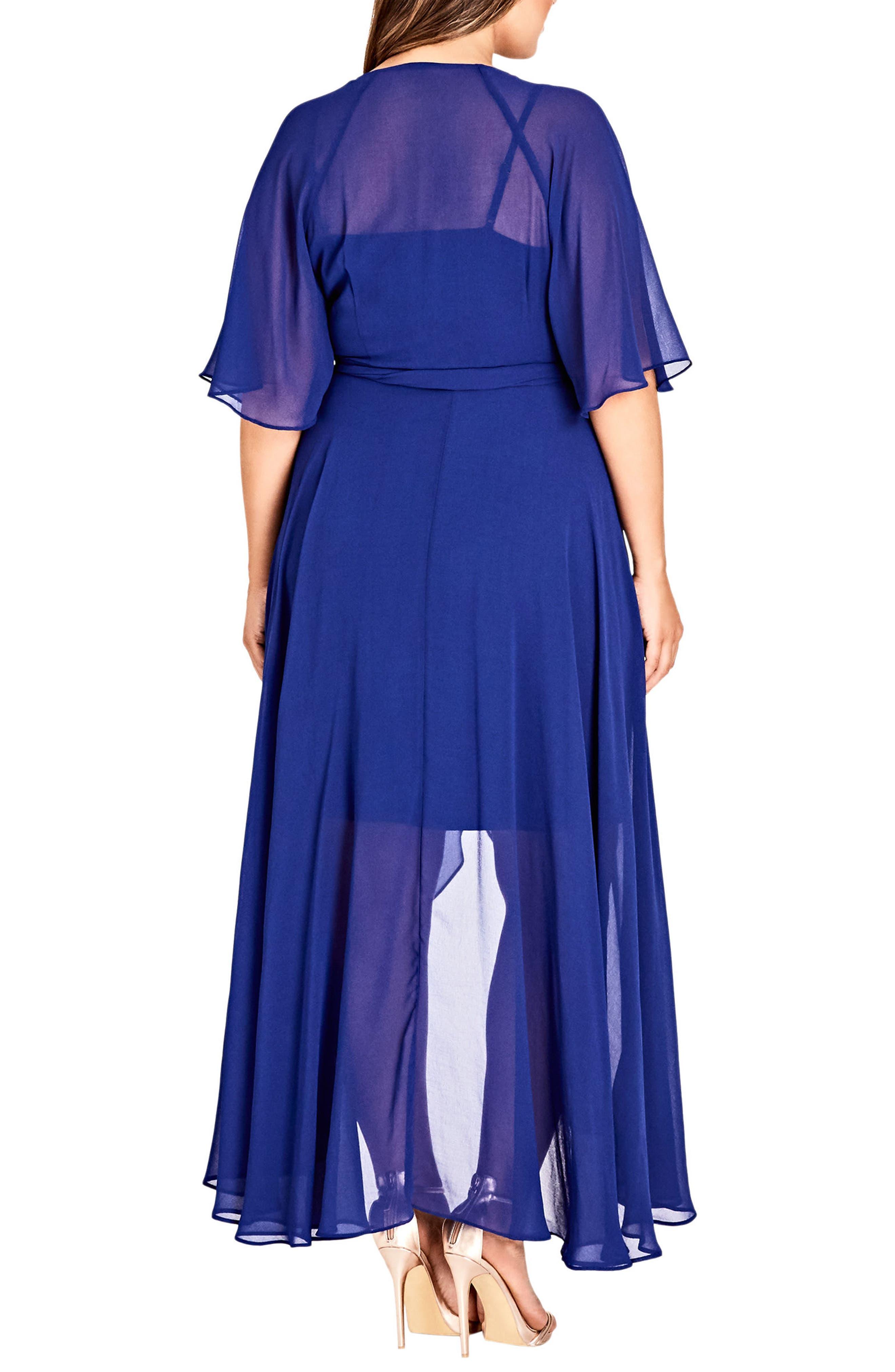 Enthrall Me High/Low Dress,                             Alternate thumbnail 2, color,                             Lapis