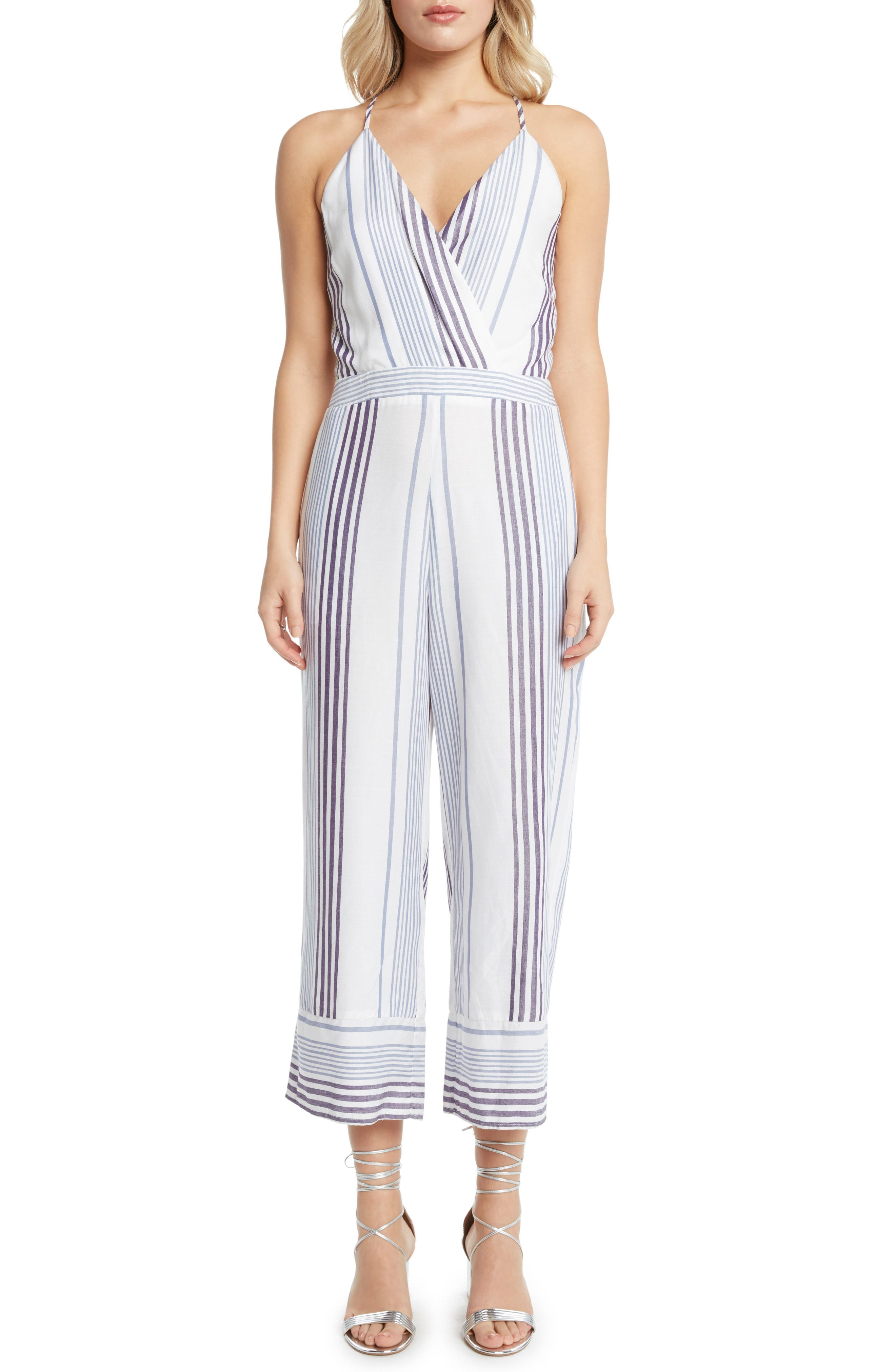 Willow & Clay Stripe Culotte Jumpsuit