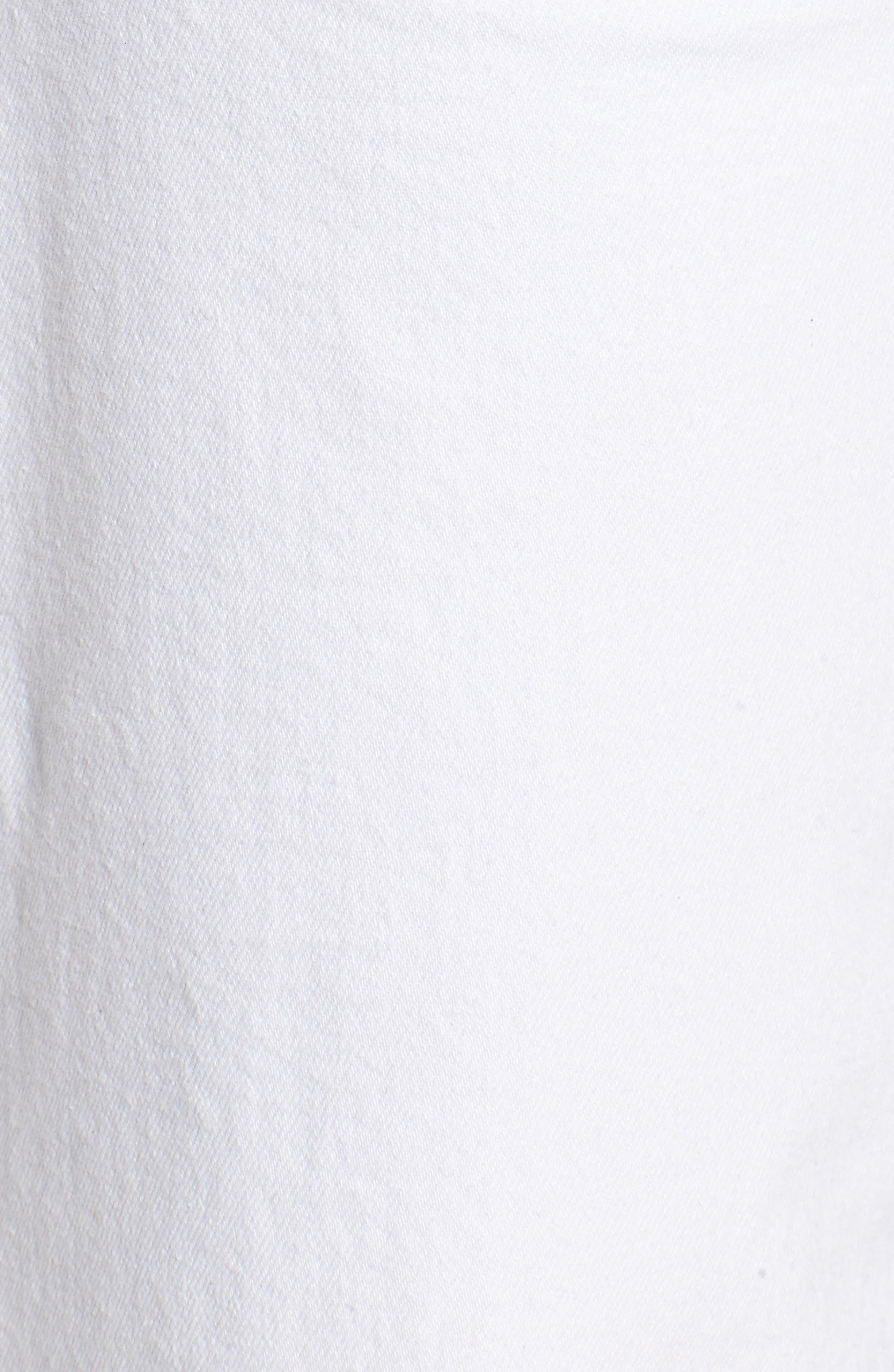 Holly High Waist Raw Hem Crop Wide Leg Jeans,                             Alternate thumbnail 5, color,                             White