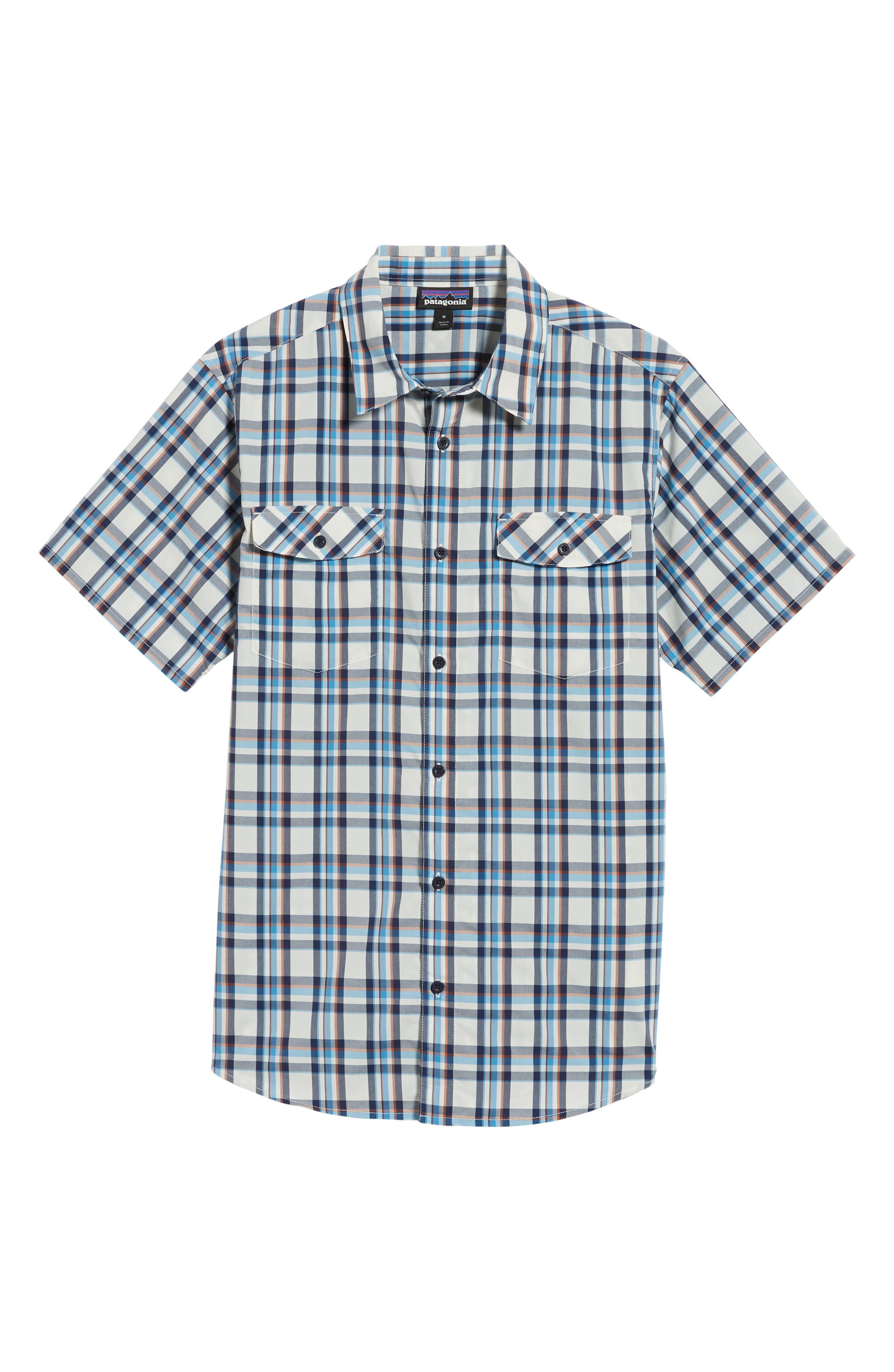 High Moss Regular Fit Short Sleeve Sport Shirt,                             Alternate thumbnail 6, color,                             Anchor/ Birch White