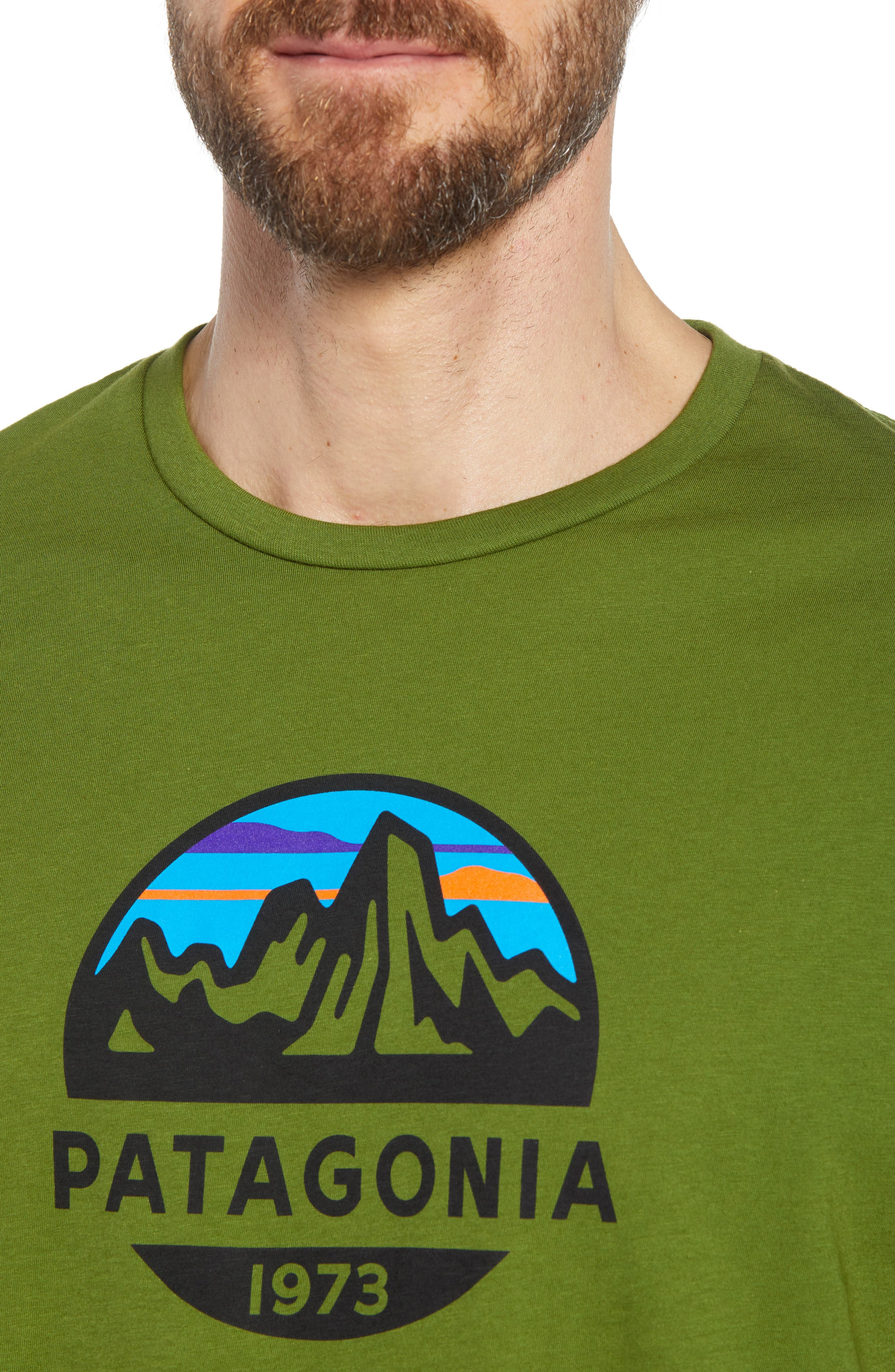 Fitz Roy Scope Crewneck T-Shirt,                             Alternate thumbnail 4, color,                             Sprouted Green