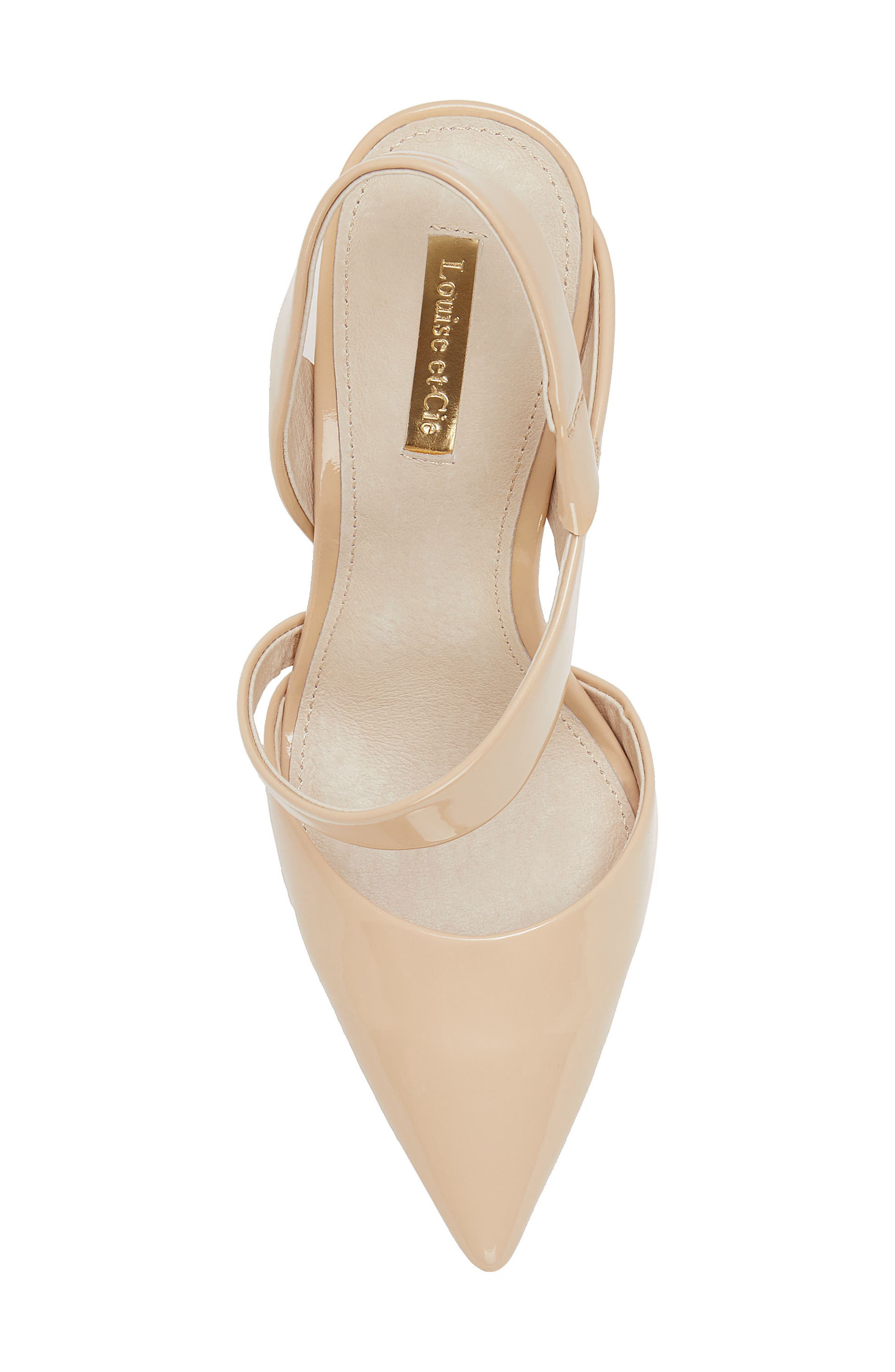 Jerry Pointy Toe Slingback Pump,                             Alternate thumbnail 5, color,                             Odessa Patent