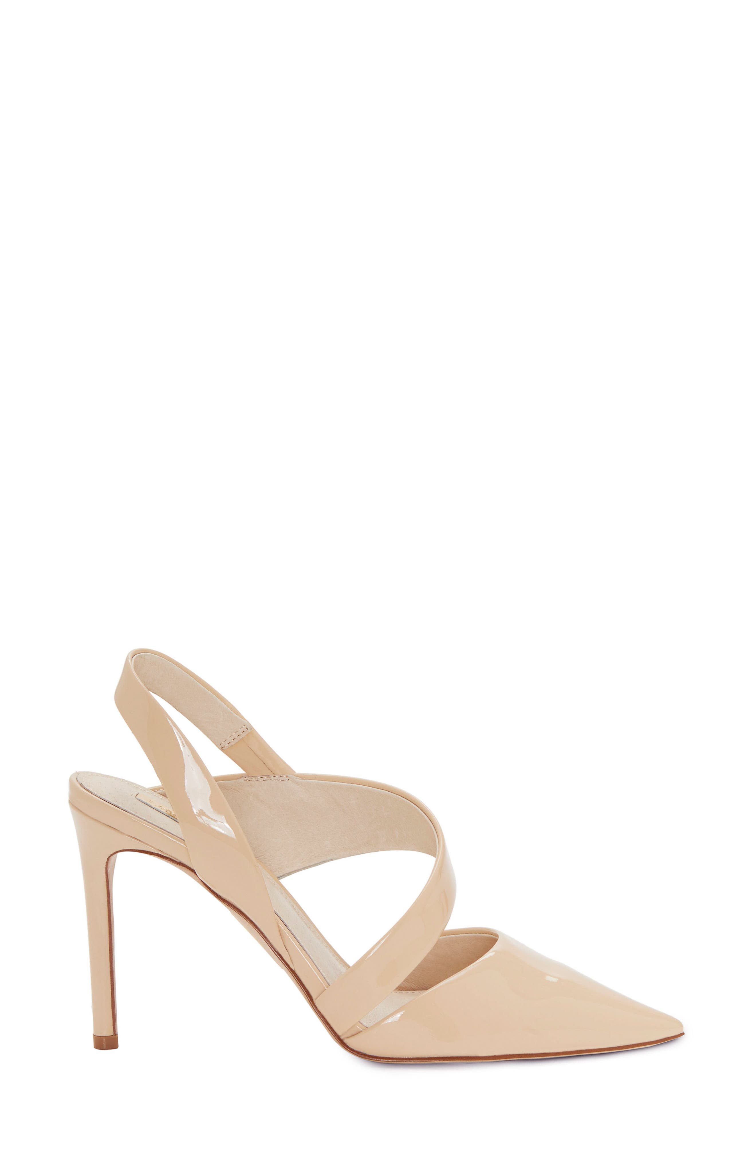 Jerry Pointy Toe Slingback Pump,                             Alternate thumbnail 3, color,                             Odessa Patent