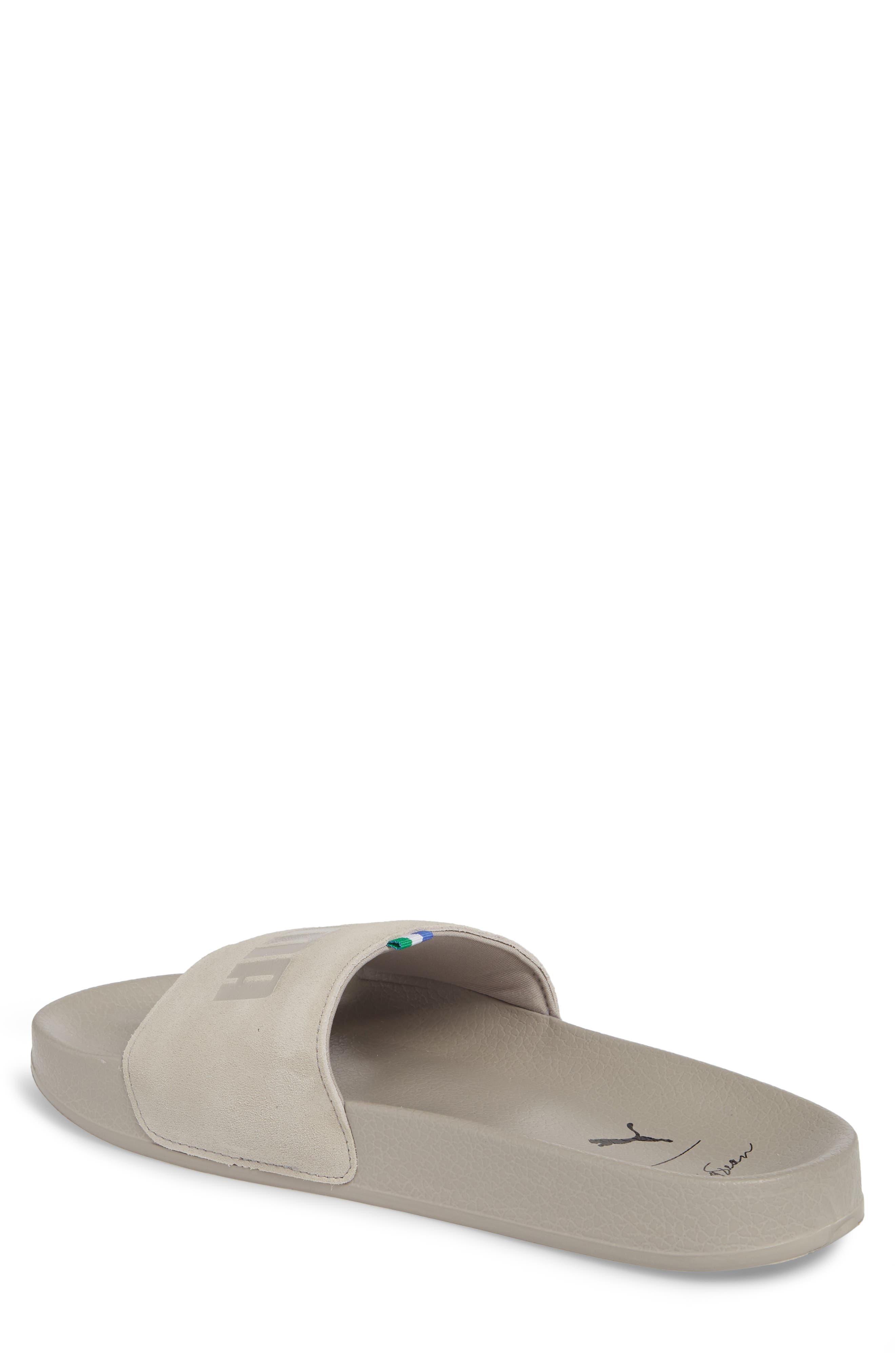 x Big Sean Leadcat Slide Sandal,                             Alternate thumbnail 2, color,                             Whisper White Leather/ Suede
