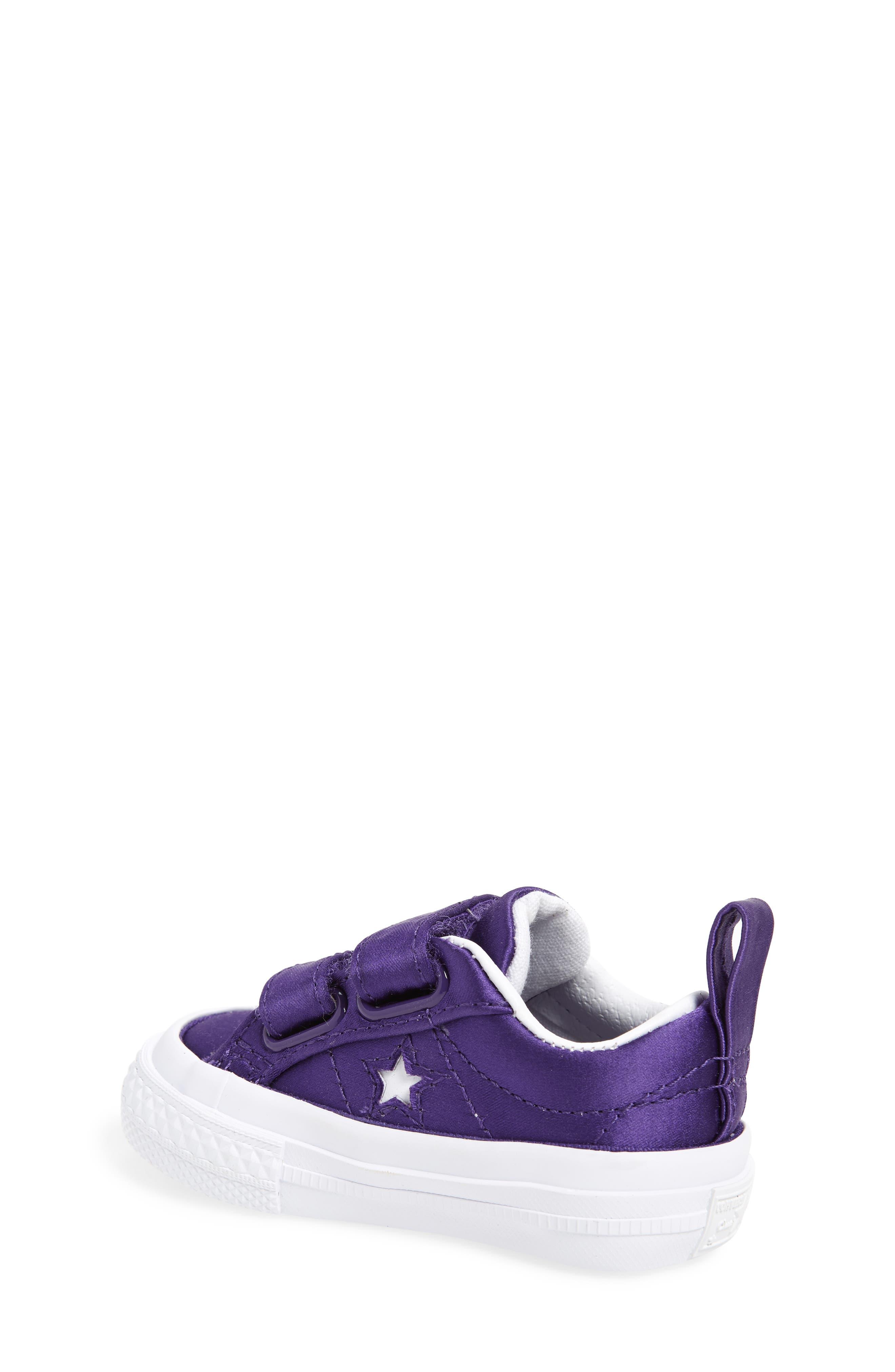 One Star Satin 2V Low Top Sneaker,                             Alternate thumbnail 2, color,                             Court Purple