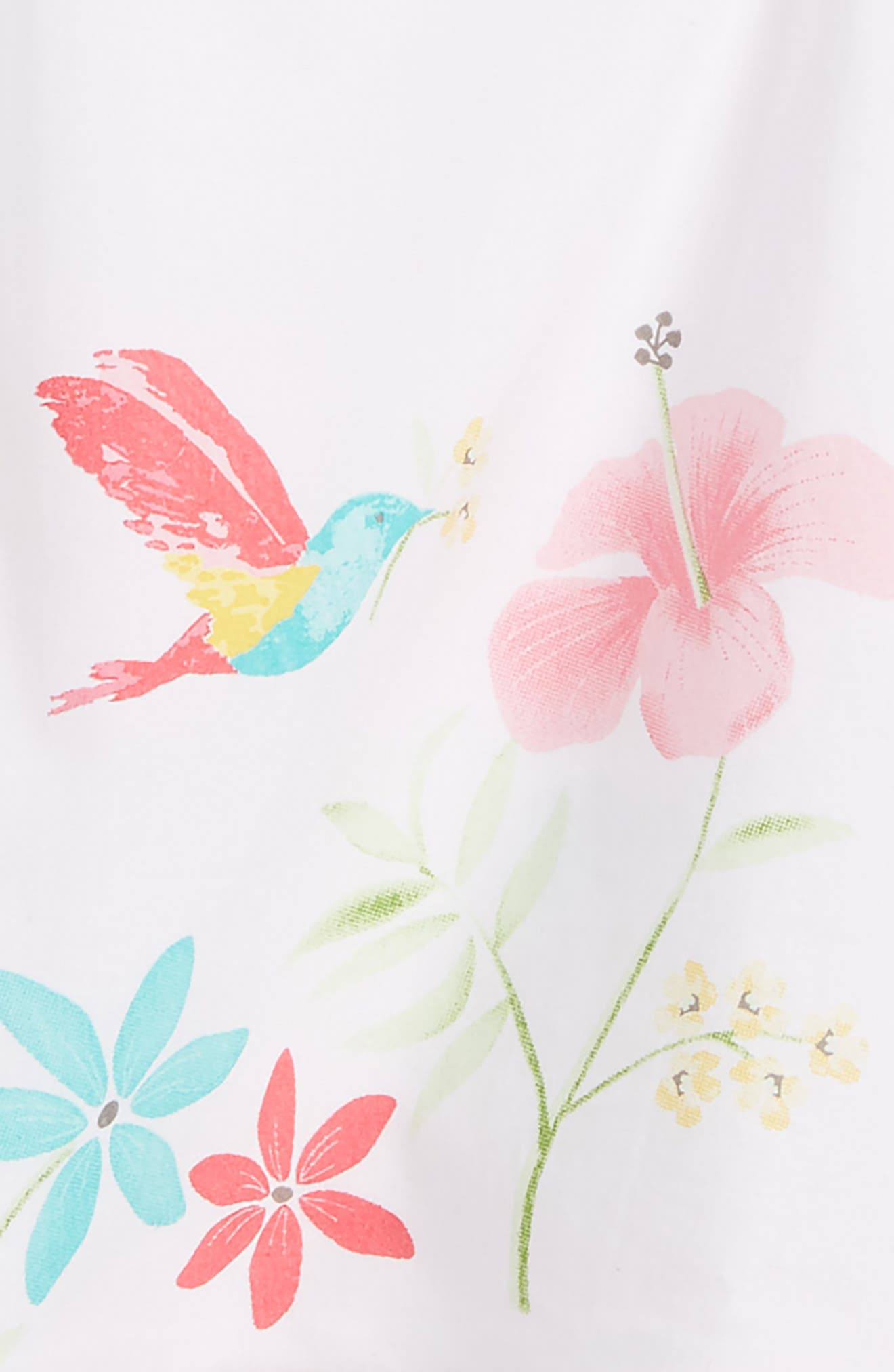 Floral Tunic & Leggings Set,                             Alternate thumbnail 2, color,                             Pink