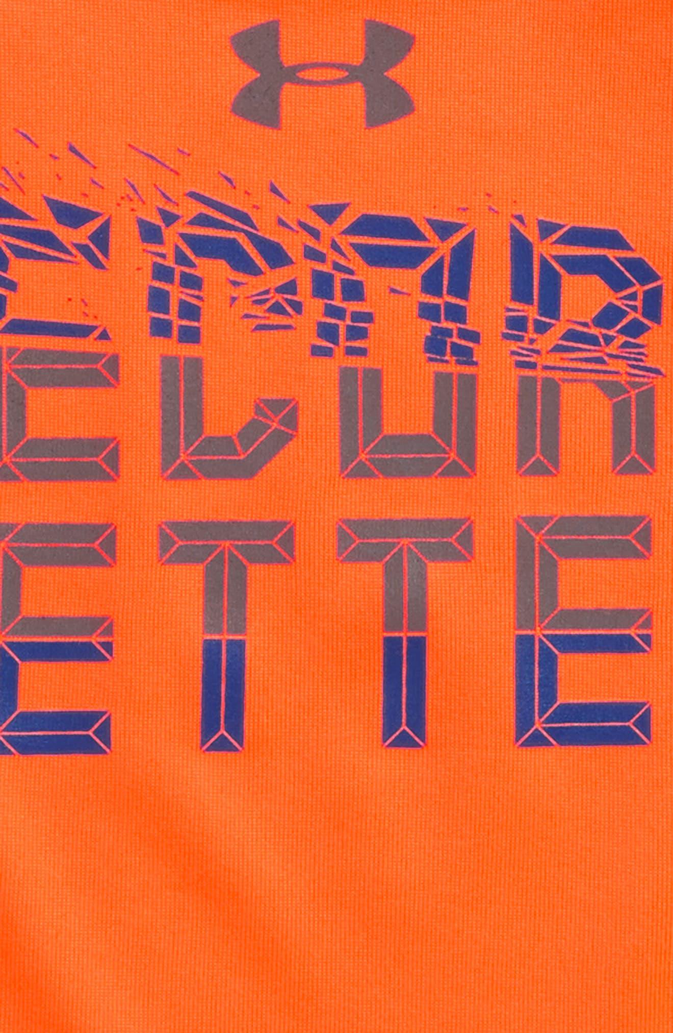 Record Setter HeatGear<sup>®</sup> T-Shirt,                             Alternate thumbnail 2, color,                             Magma Orange