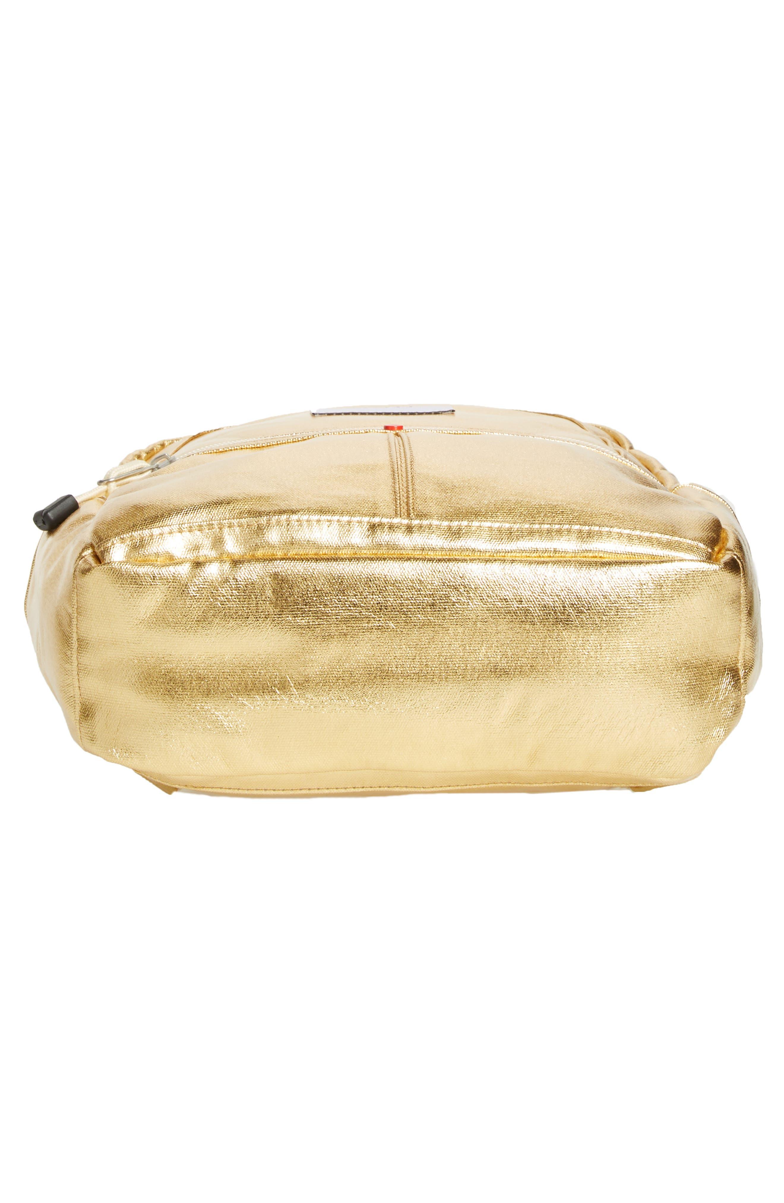 Downtown Mini Kane Metallic Backpack,                             Alternate thumbnail 6, color,                             Gold