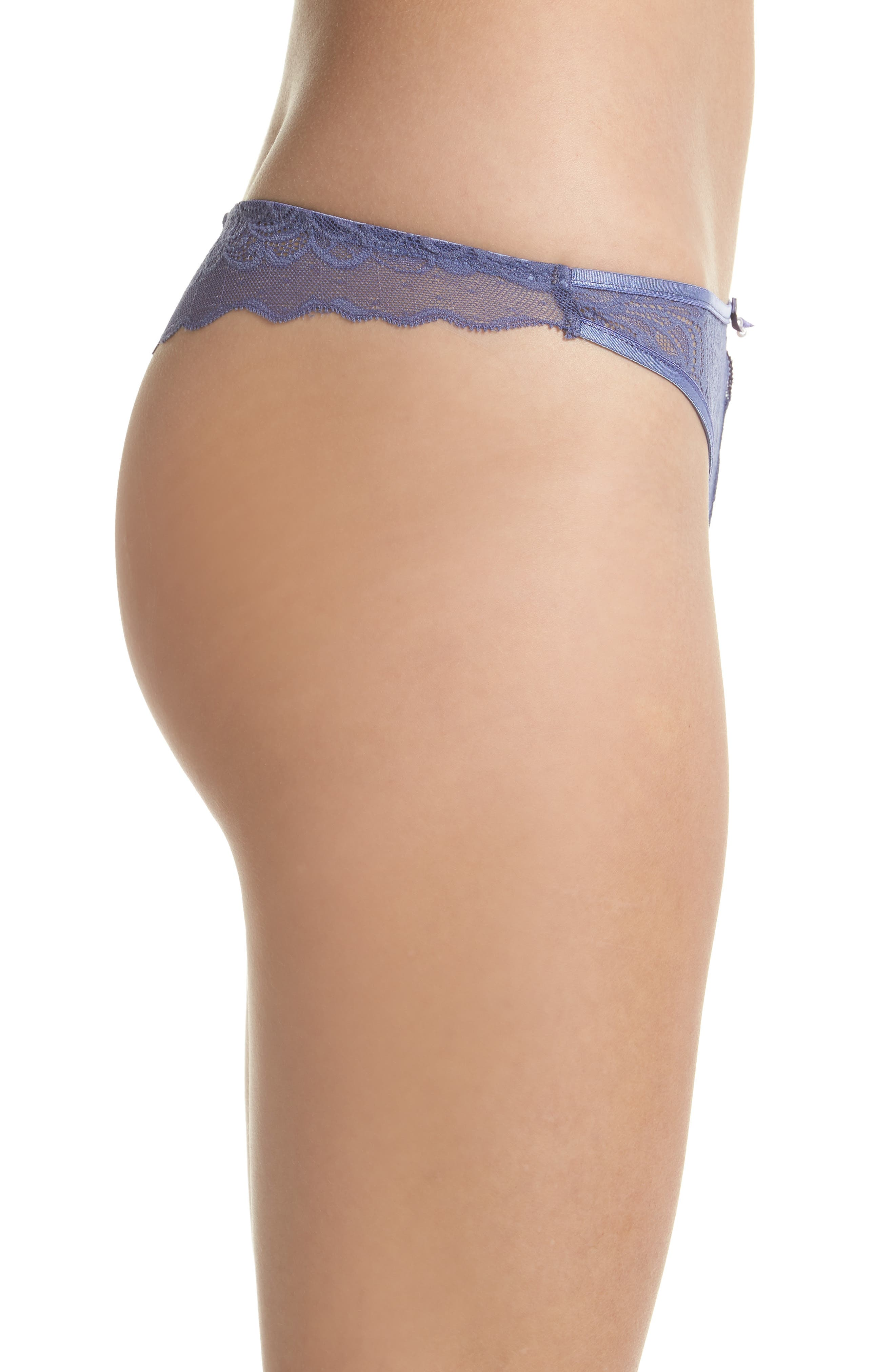 Lace Thong,                             Alternate thumbnail 3, color,                             Blue Ice