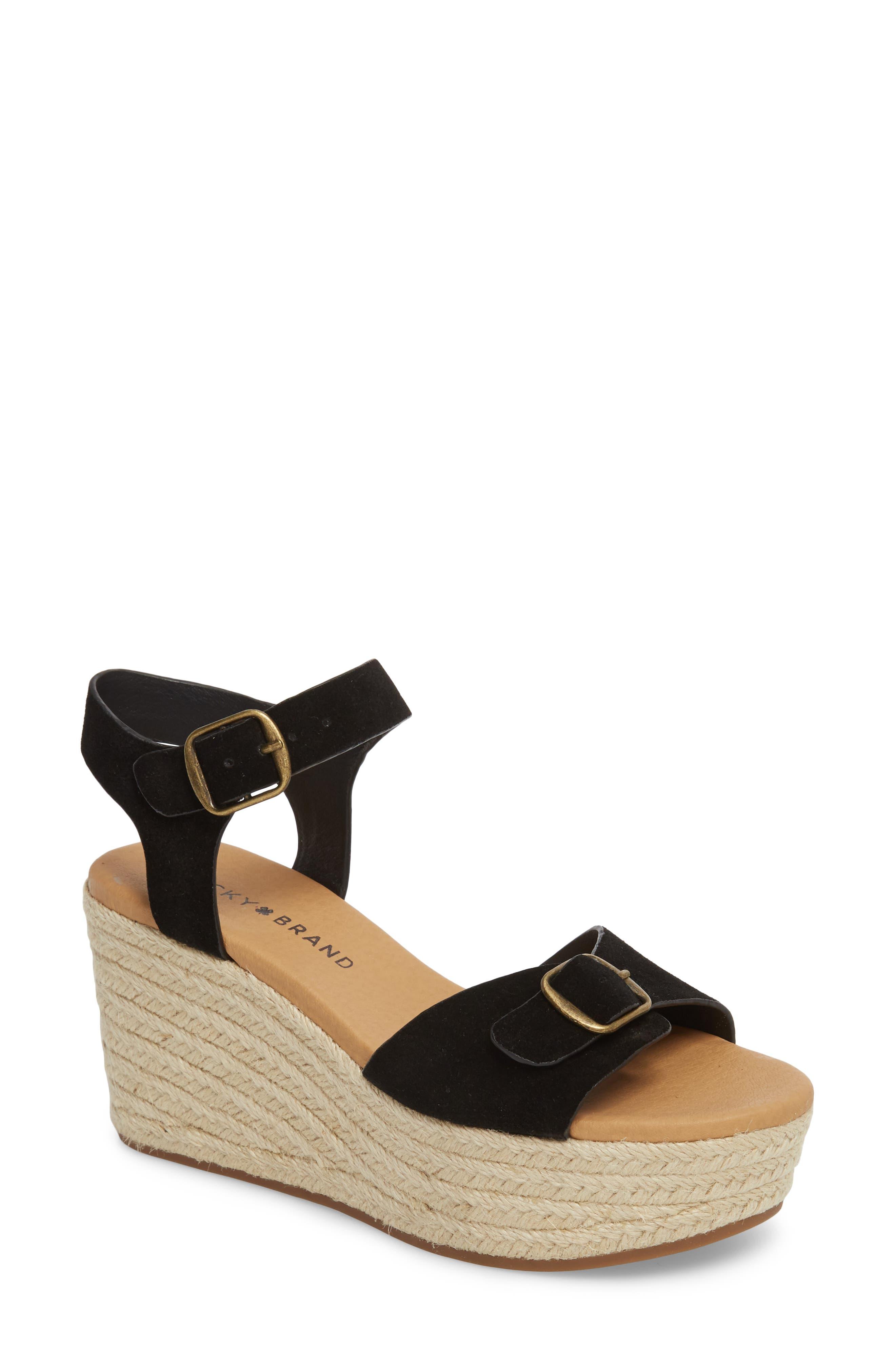 Lucky Brand Naveah Espadrille Wedge Sandal (Women)
